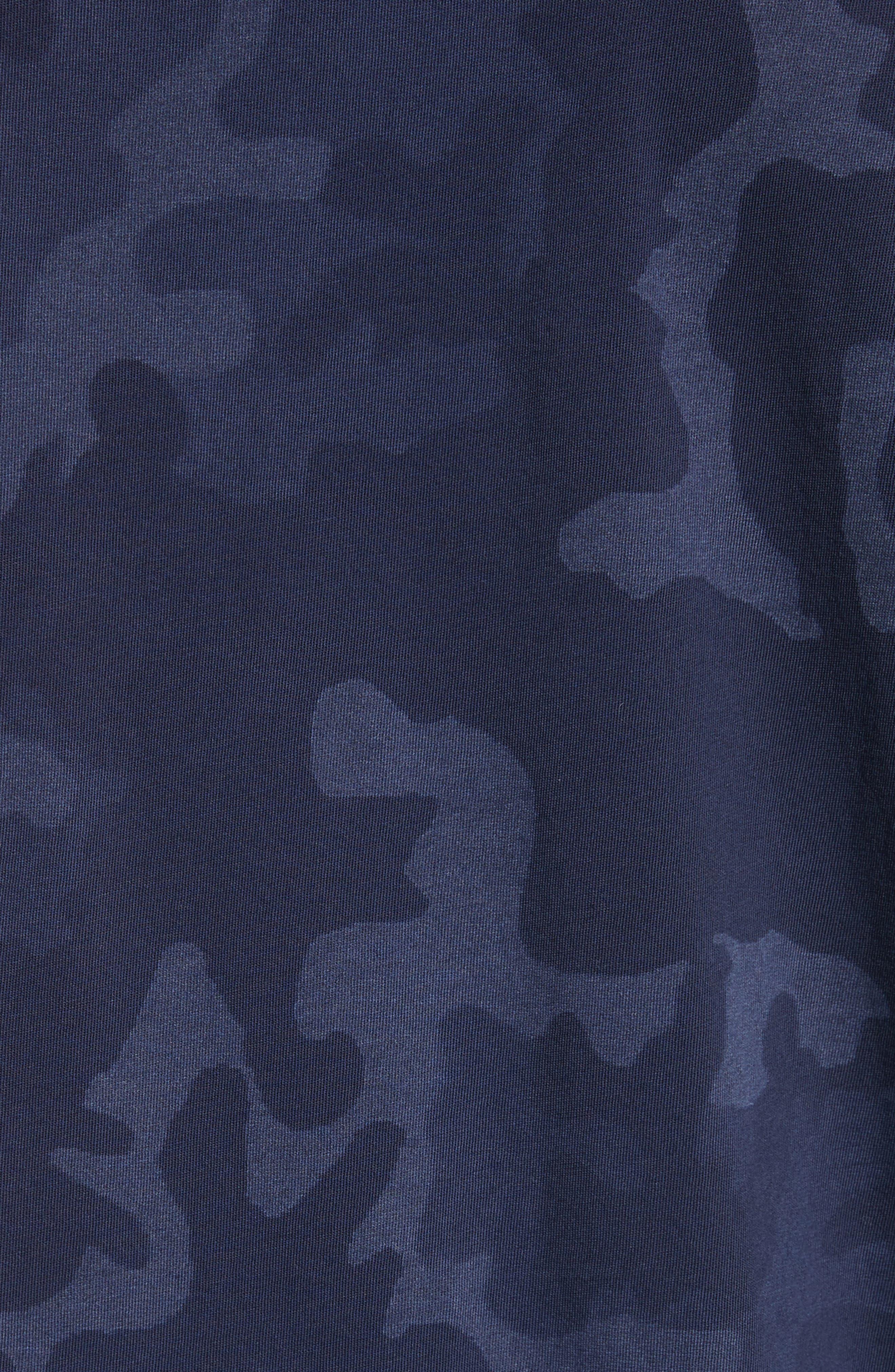 Camo Print Crewneck T-Shirt,                             Alternate thumbnail 5, color,                             Blue Camo