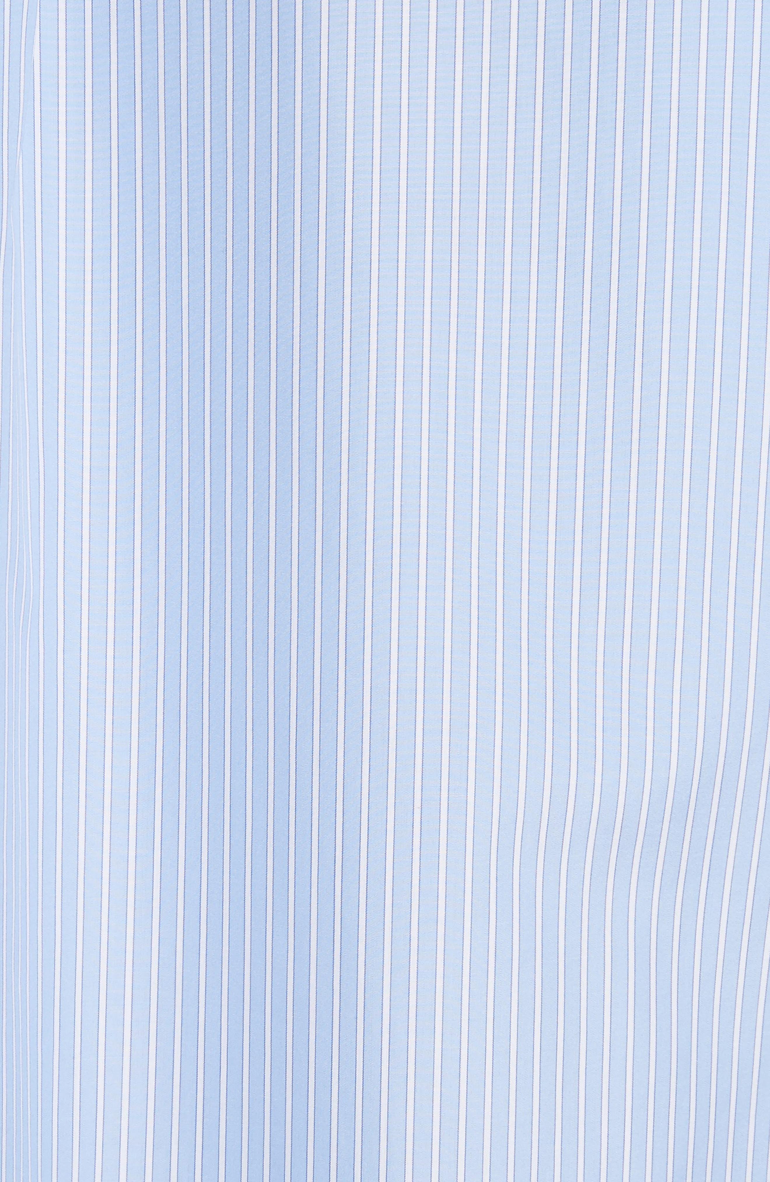 Cutaway Sleeve Cotton Poplin Shirt,                             Alternate thumbnail 6, color,                             Blue / White