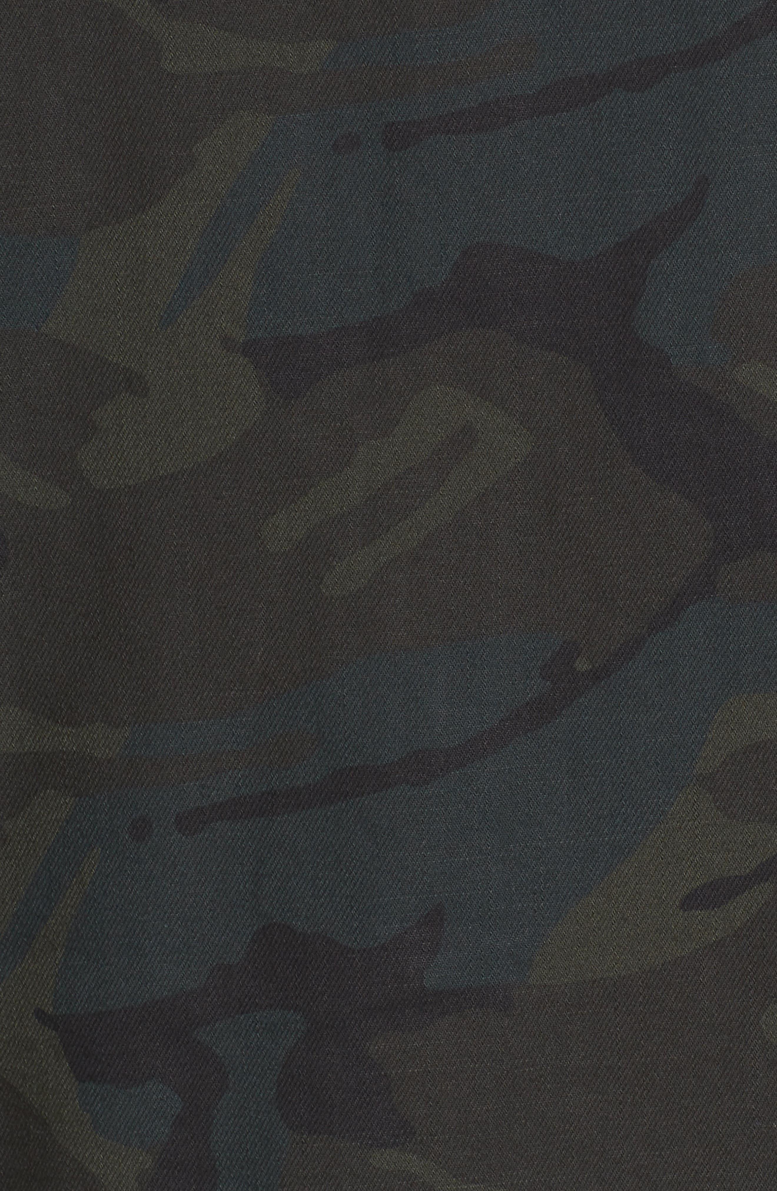 Stalt Long Sleeve Denim Shirt,                             Alternate thumbnail 5, color,                             Asphalt/ Black