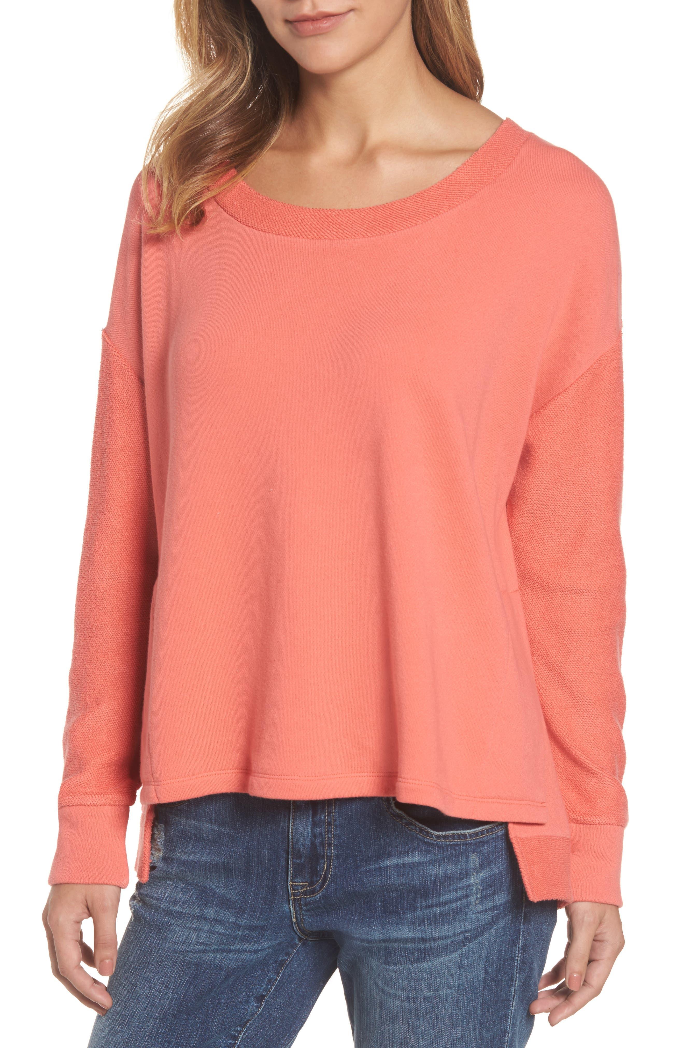 Main Image - Caslon® Relaxed Sweatshirt (Regular & Petite)