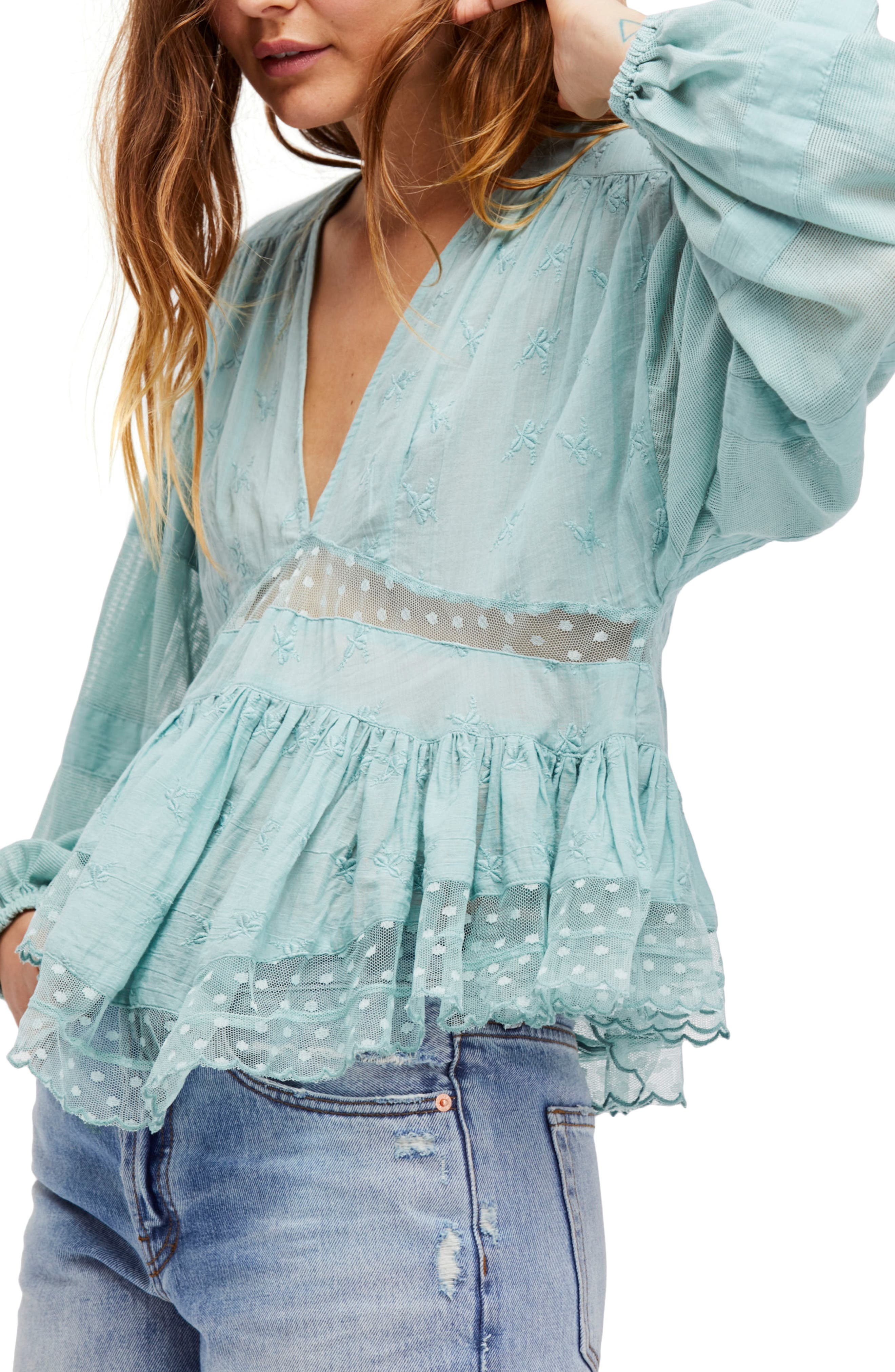 Alternate Image 1 Selected - Free People Nostalgic Feels Peasant Blouse