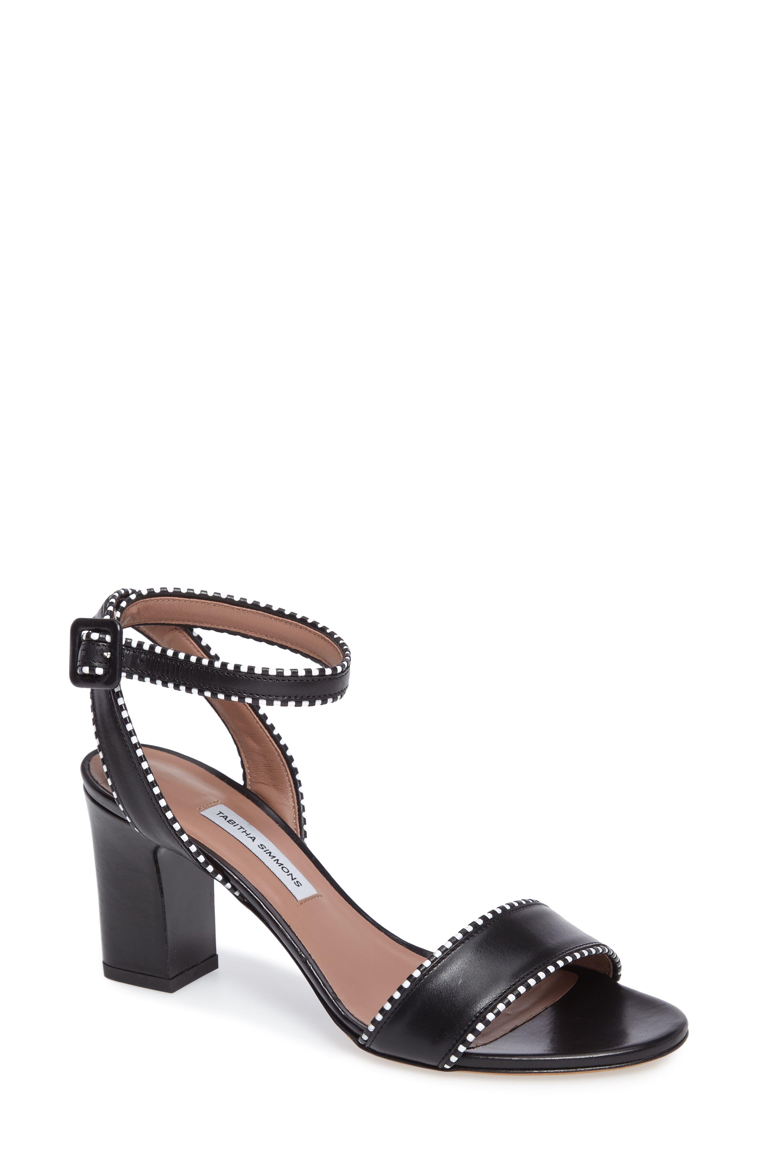 Leticia Profilo Ankle Strap Sandal,                             Main thumbnail 1, color,                             Black