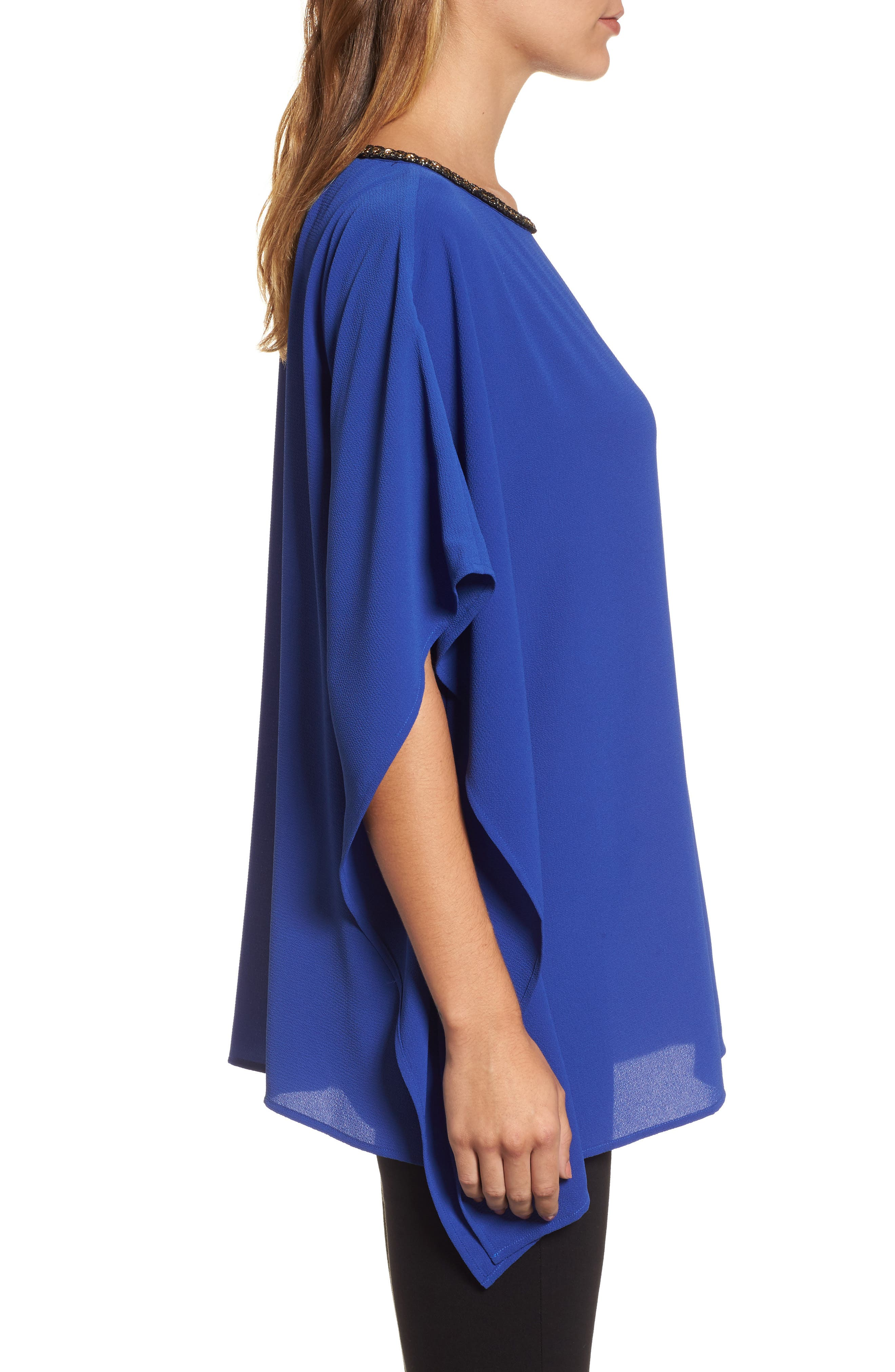 Chain Neck Top,                             Alternate thumbnail 3, color,                             Bright Royal