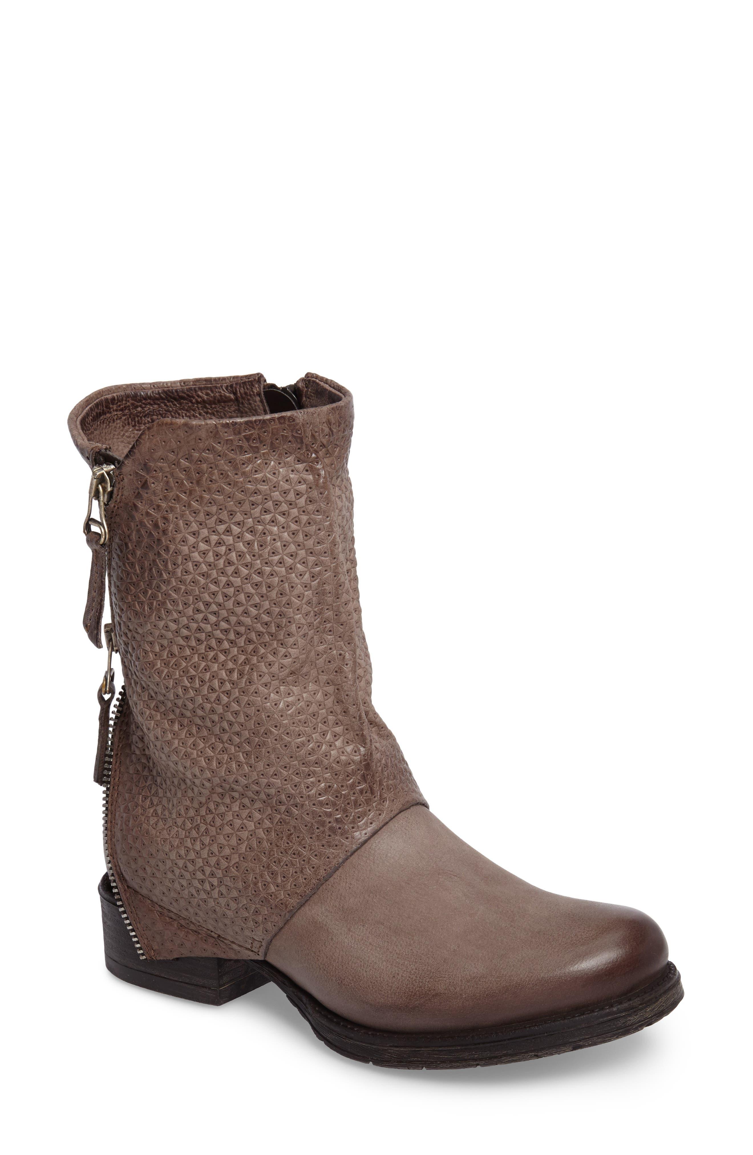 Nugget Asymmetrical Textured Boot,                             Main thumbnail 1, color,                             Ash