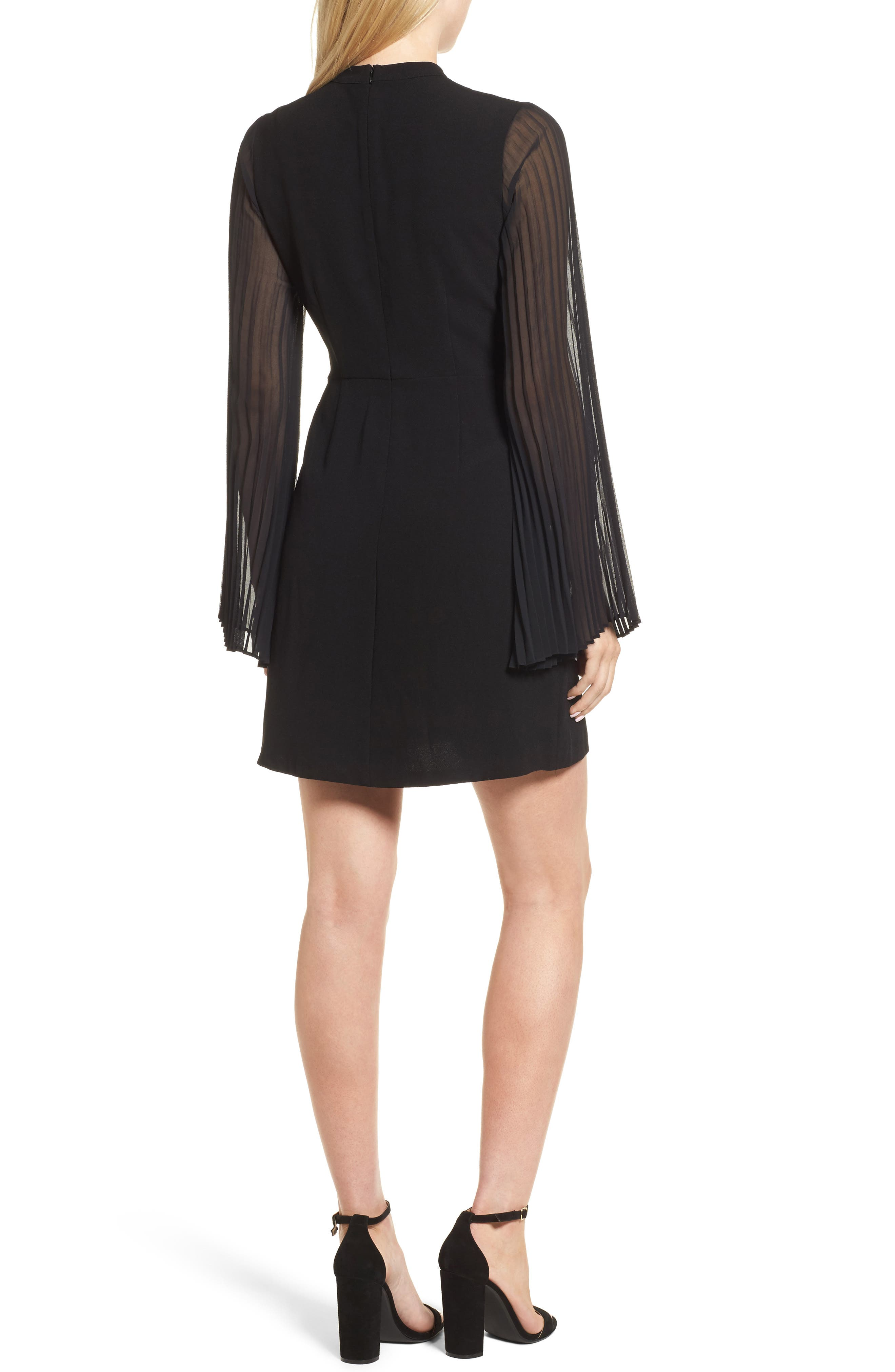 Yasmina Sheath Dress,                             Alternate thumbnail 2, color,                             Black