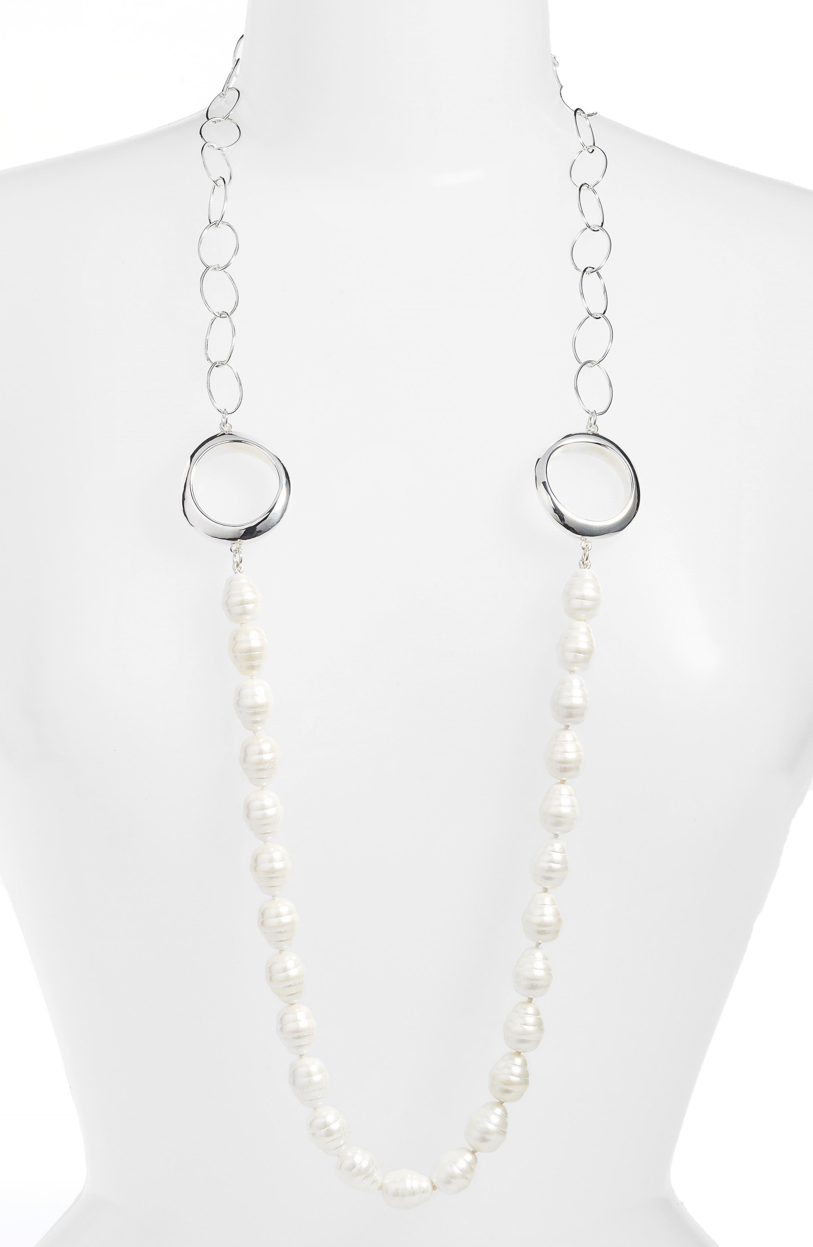 Simon Sebbag Long Imitation Pearl Necklace