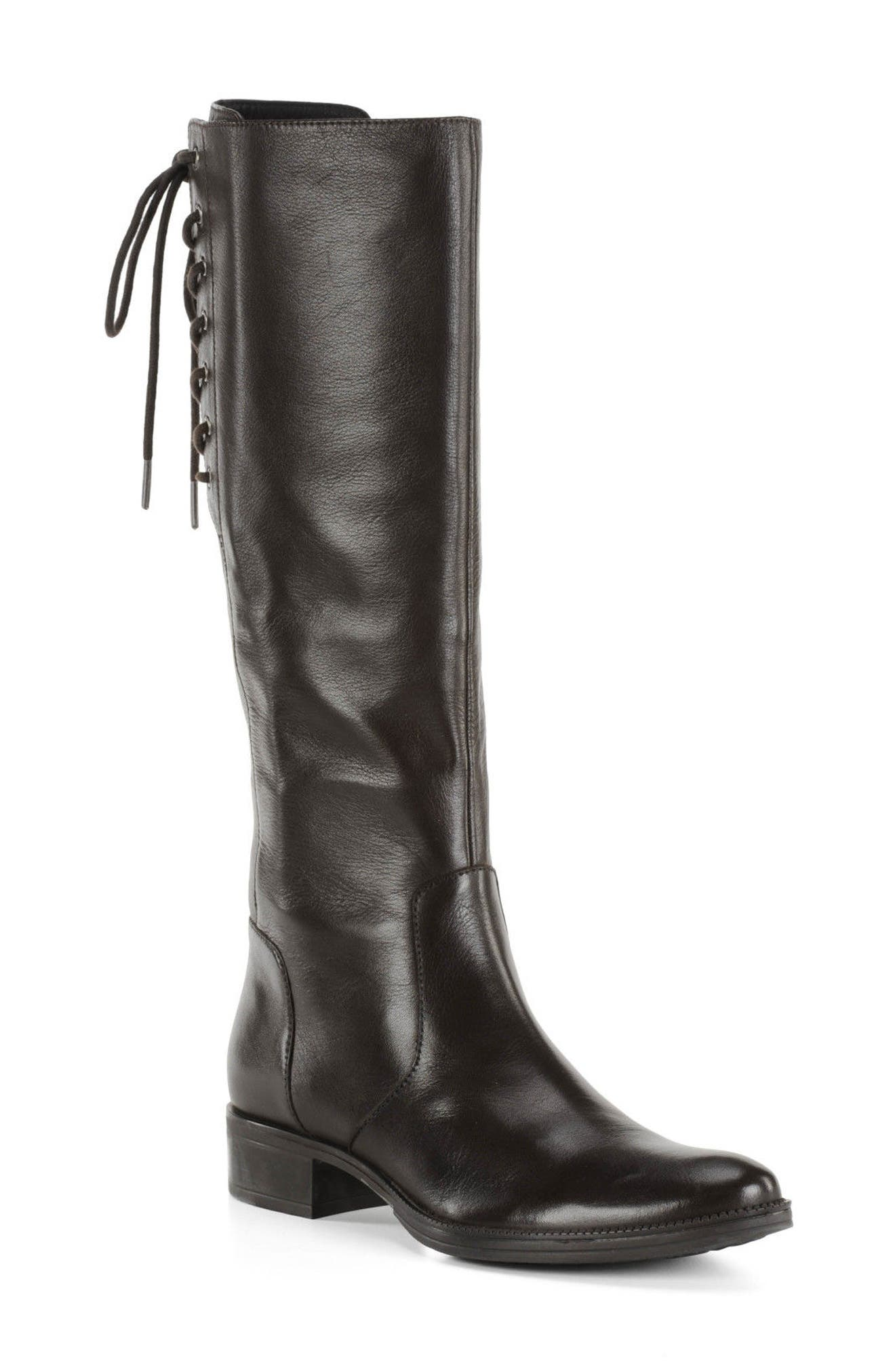Mendi Tall Boot,                         Main,                         color, Coffee Leather