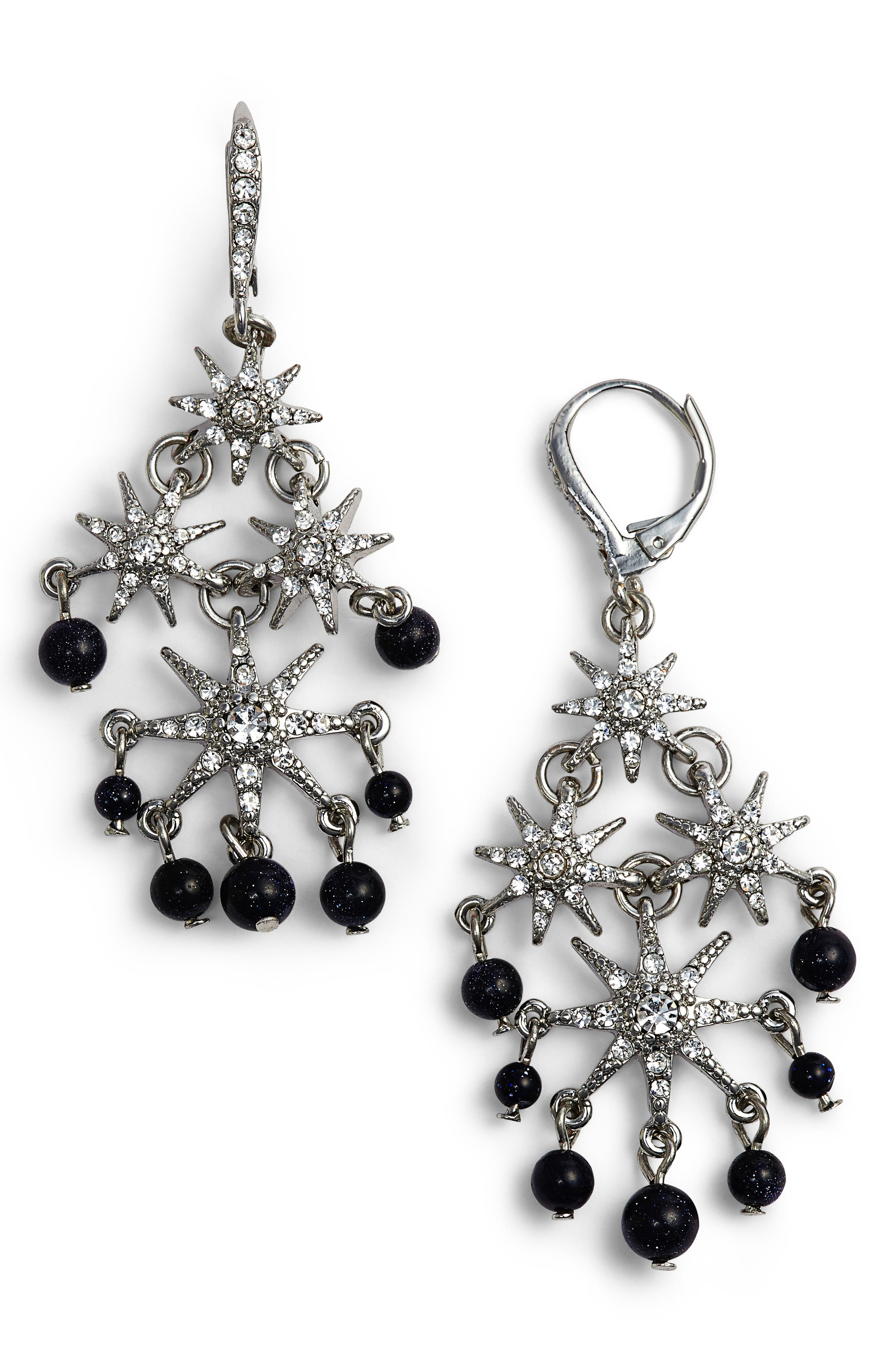 Alternate Image 1 Selected - Jenny Packham Star Chandelier Drop Earrings