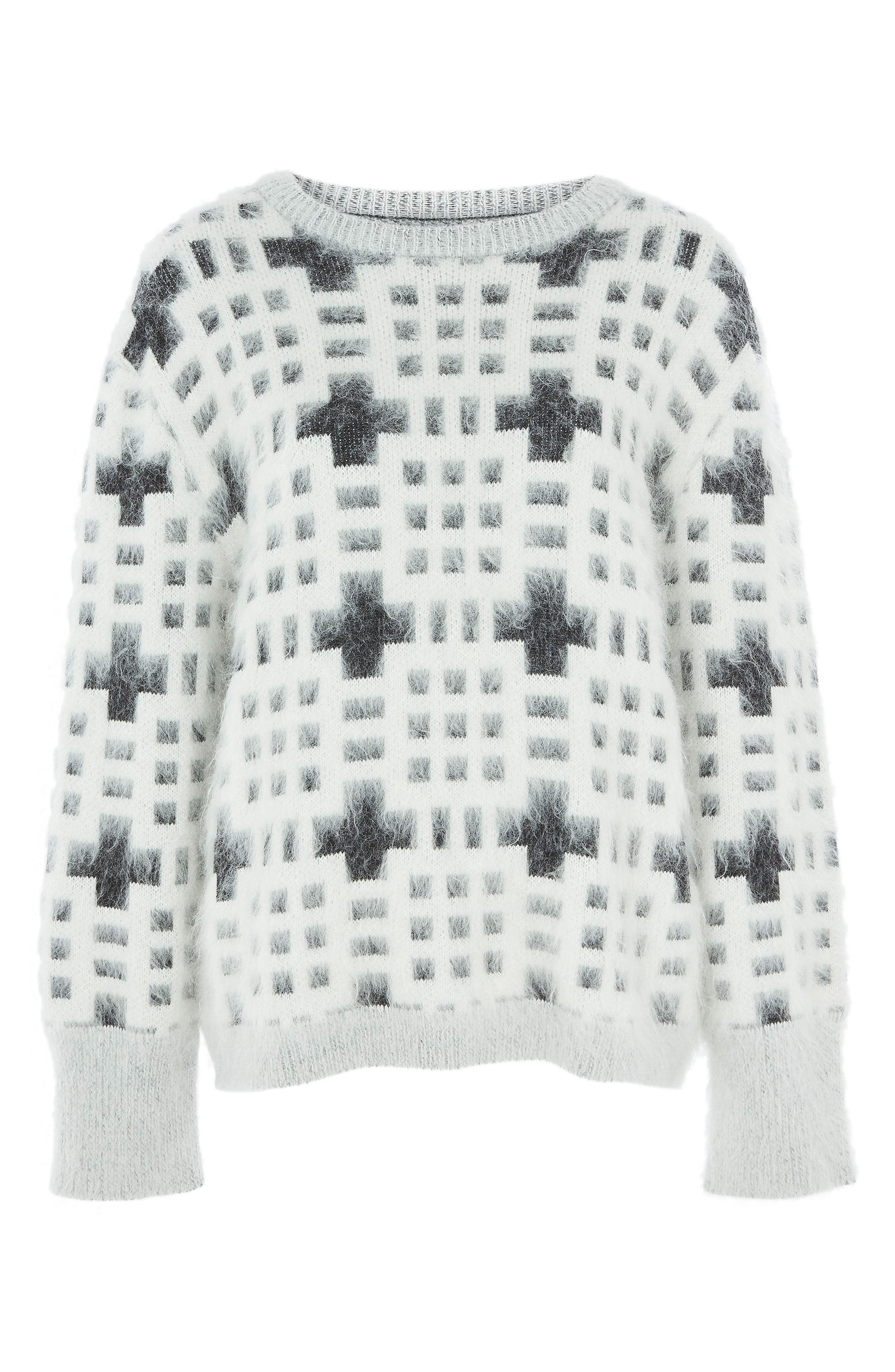 Topshop Welsh Pattern Sweater