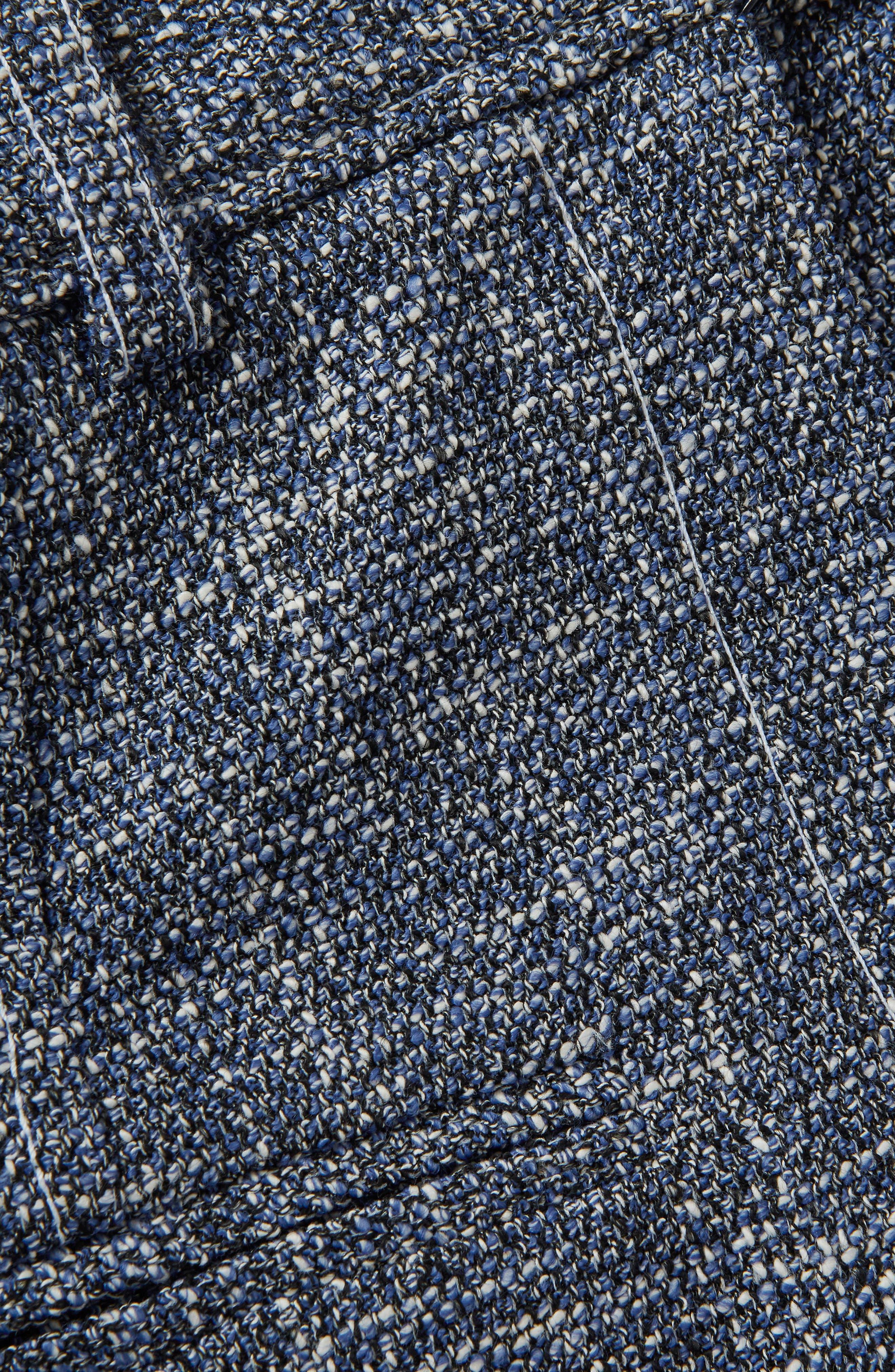 Bouclé Pencil Skirt,                             Alternate thumbnail 4, color,                             Blue