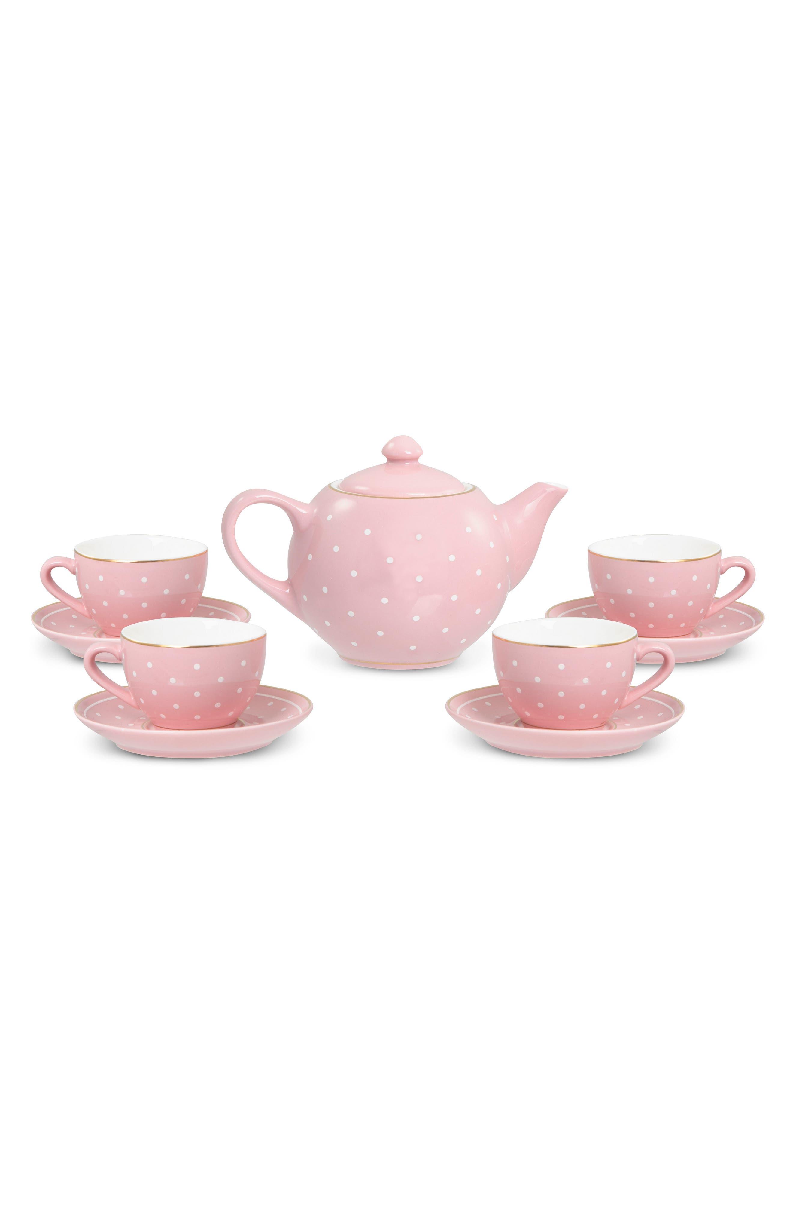 FAO Schwarz 10-Piece Glazed Ceramic Tea Set