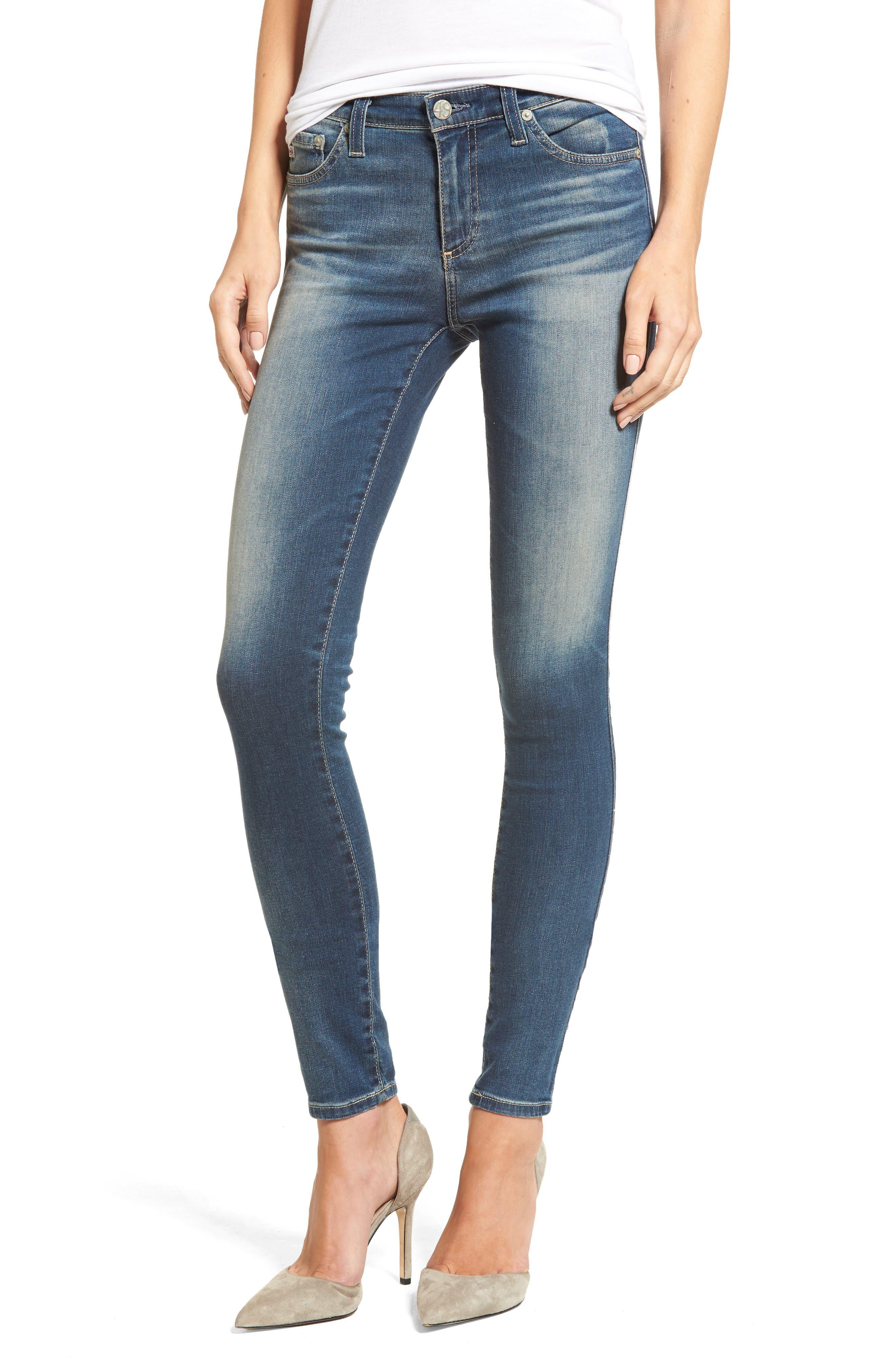 Alternate Image 1 Selected - AG The Legging Super Skinny Jeans (12 Years Abide)