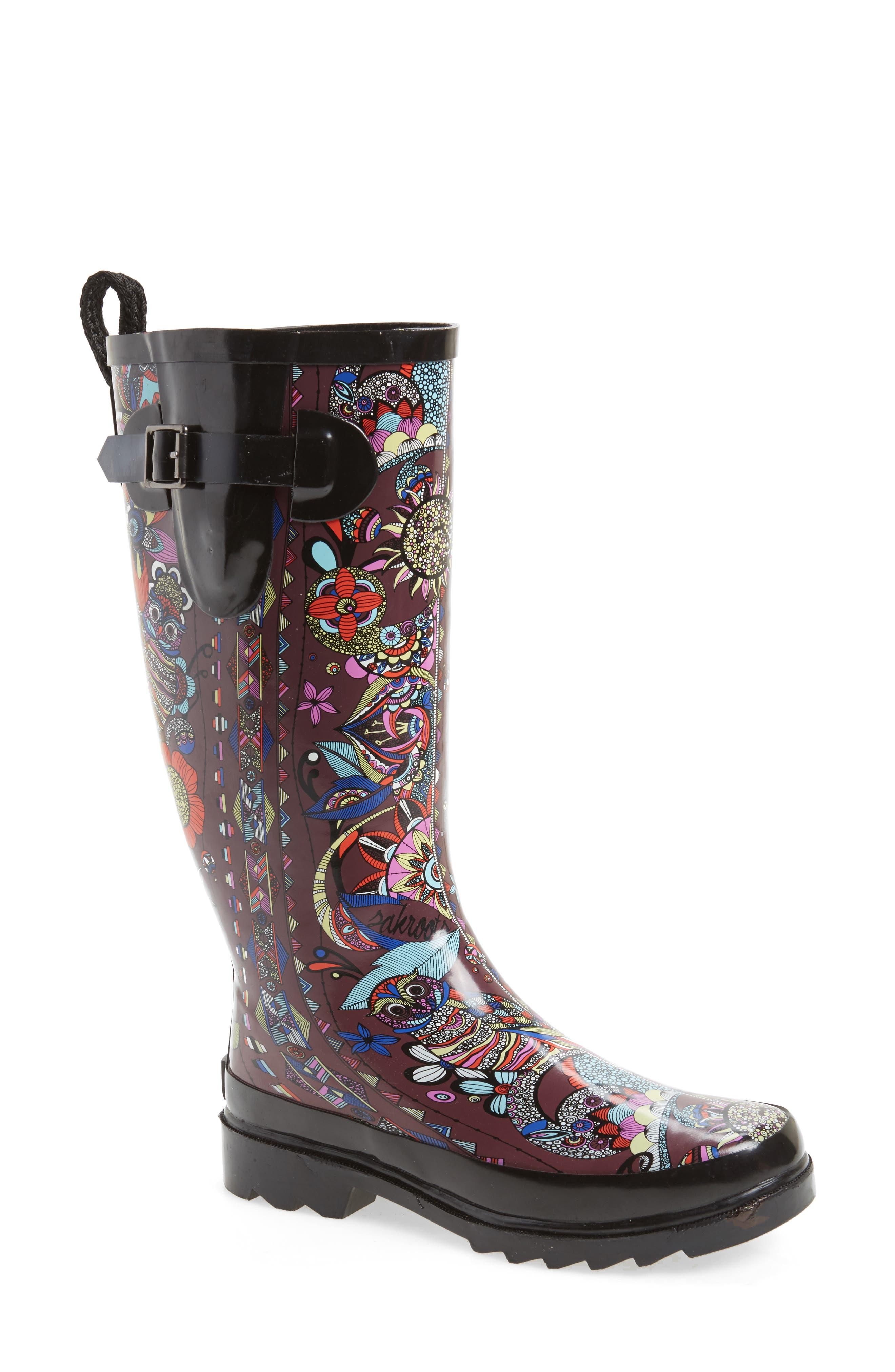 Sakroots 'Rhythm' Waterproof Rain Boot (Women)