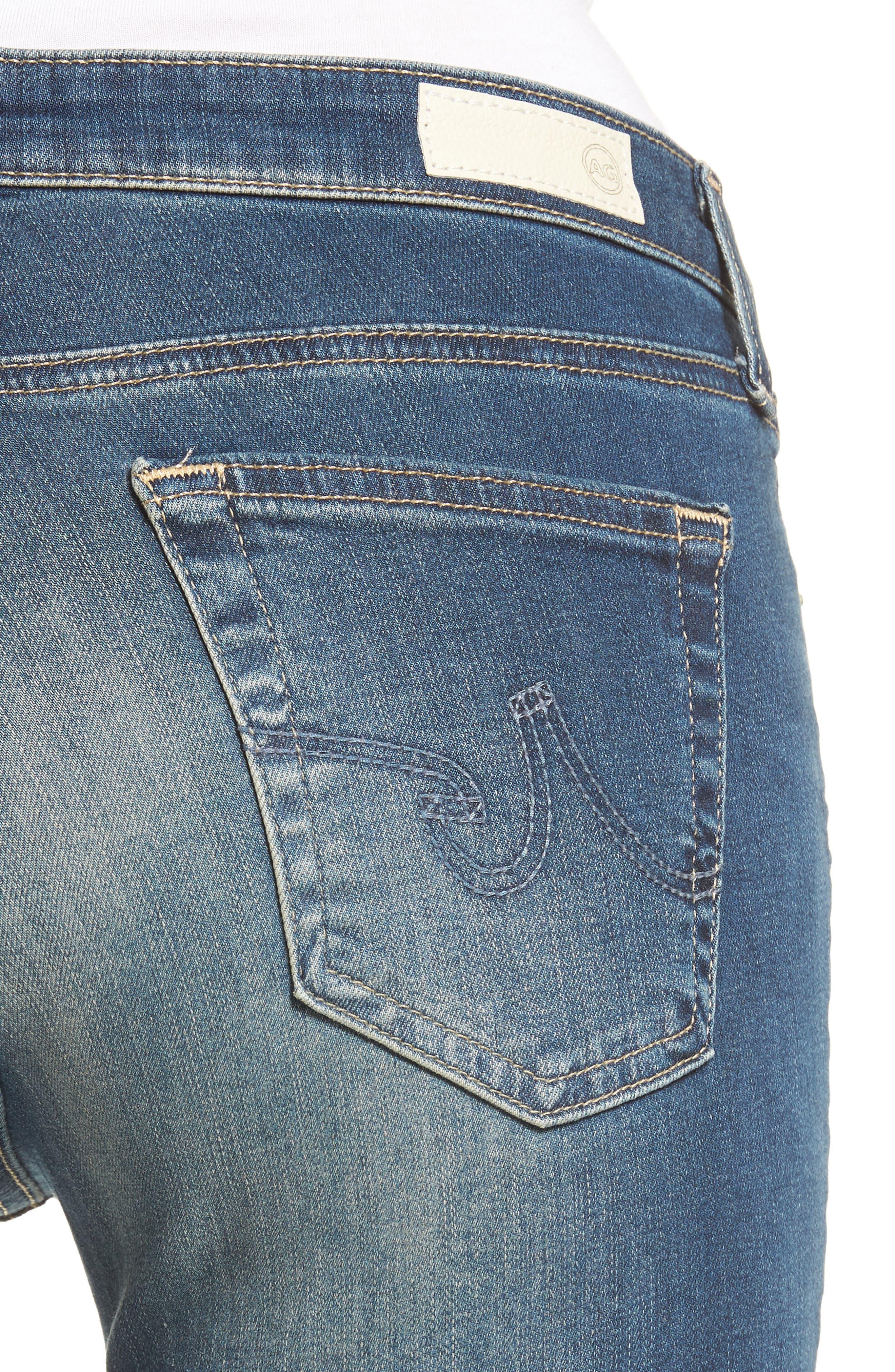 Alternate Image 4  - AG The Legging Super Skinny Jeans (12 Years Abide)
