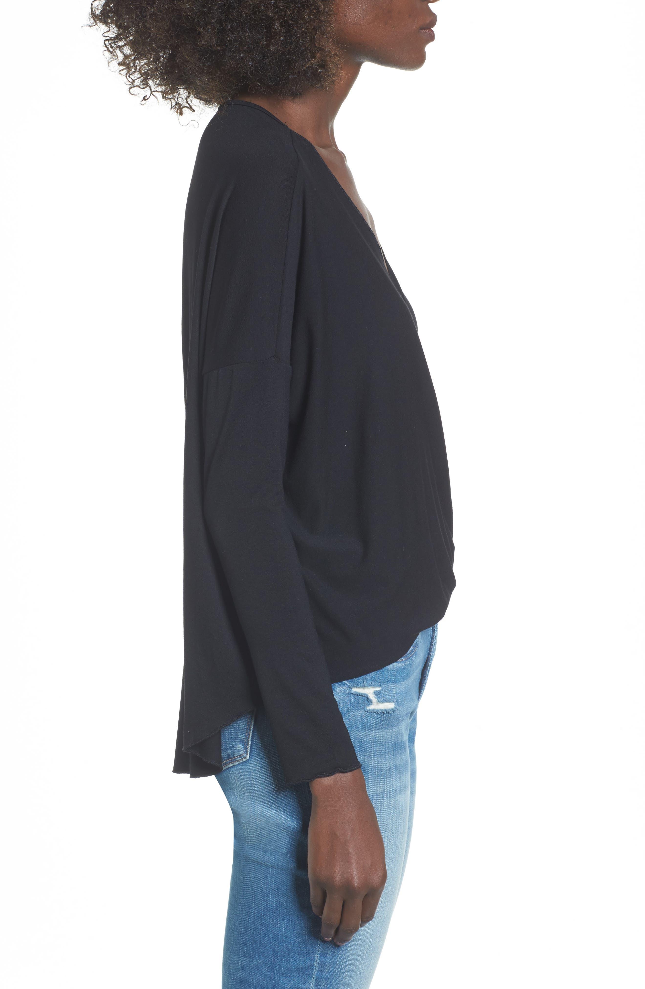 Alternate Image 3  - Lira Clothing Modern Surplice Top