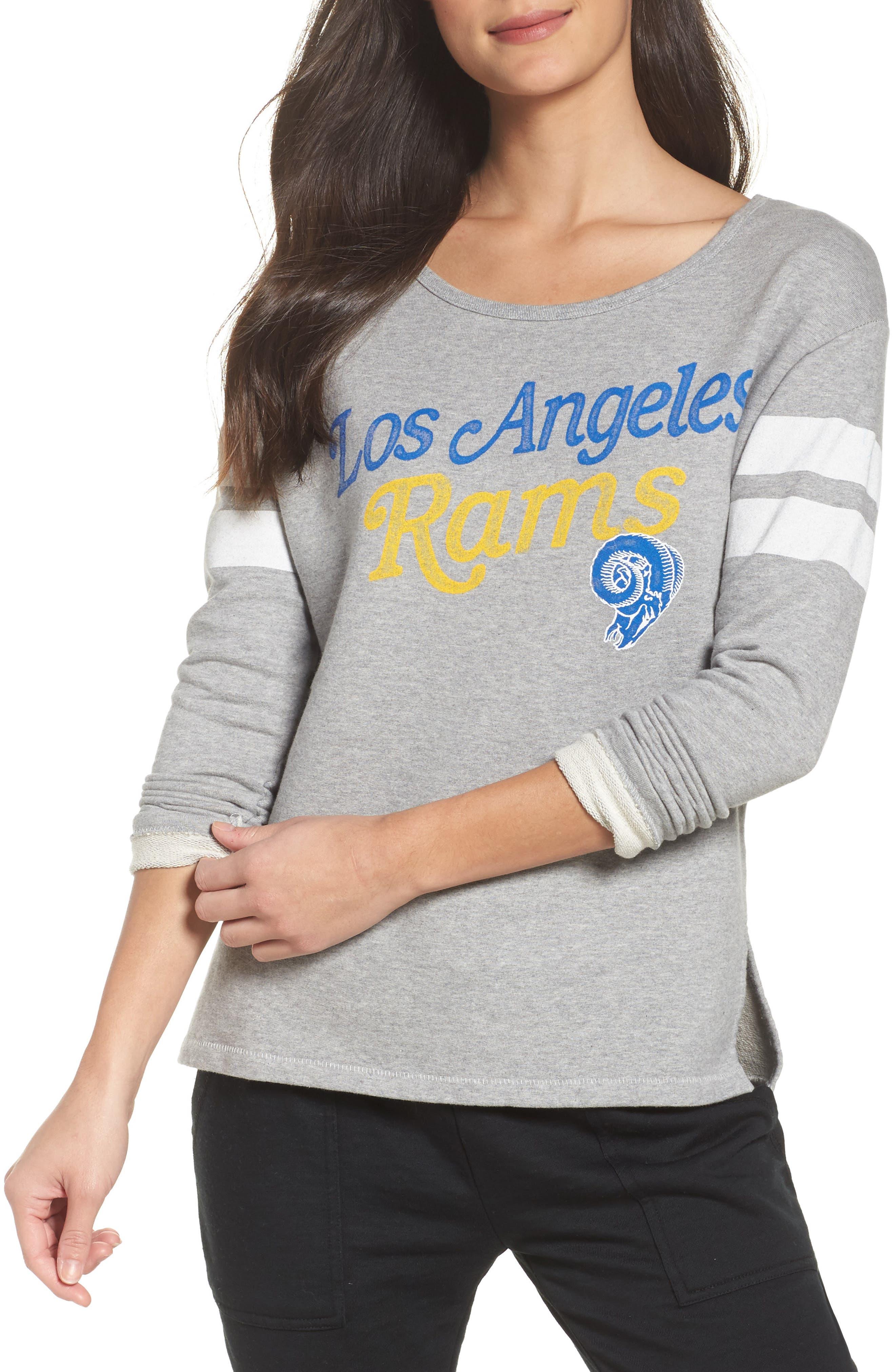 Alternate Image 1 Selected - Junk Food NFL Los Angeles Rams Champion Sweatshirt