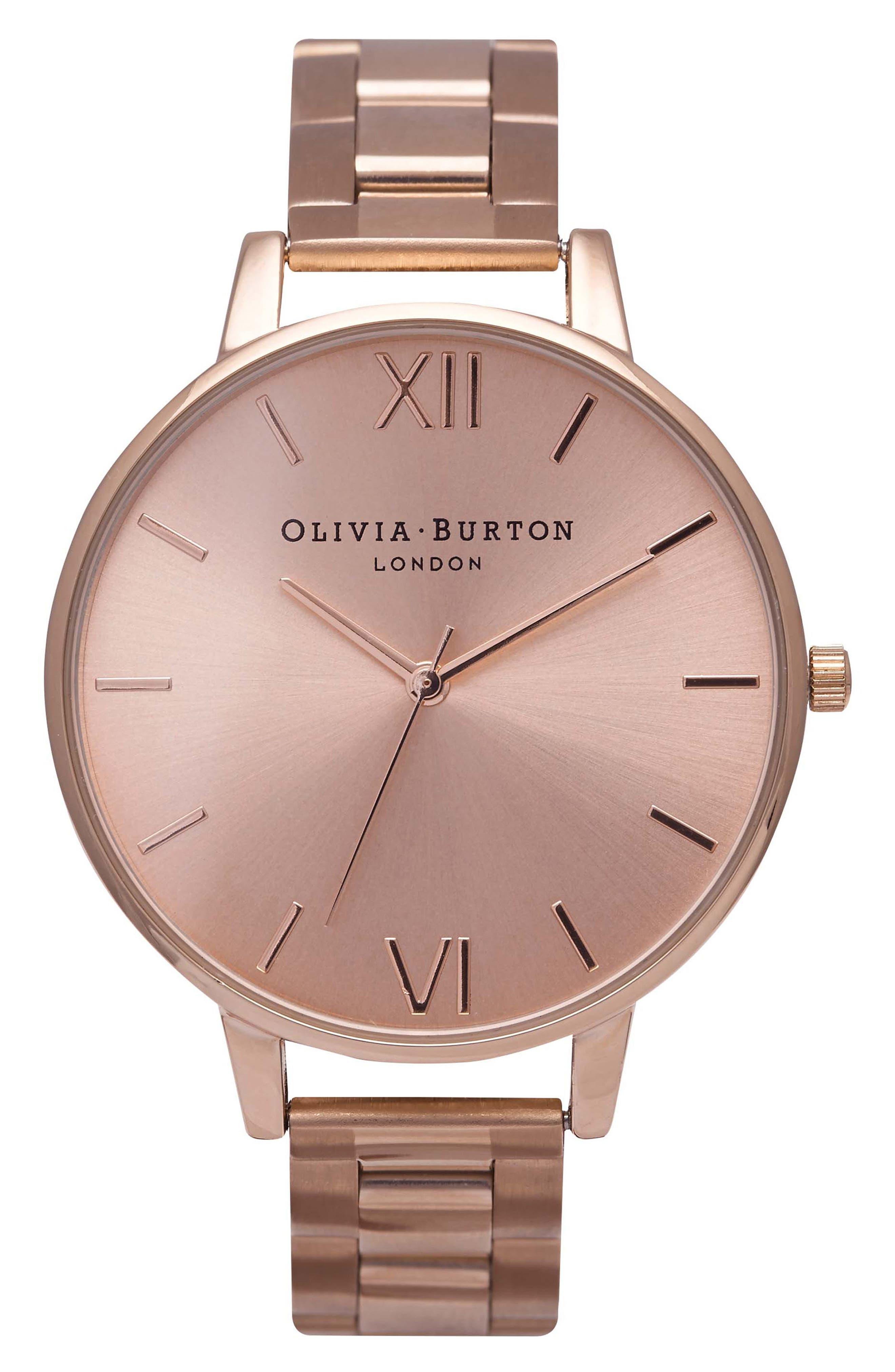 Main Image - Olivia Burton Big Dial Bracelet Watch, 38mm