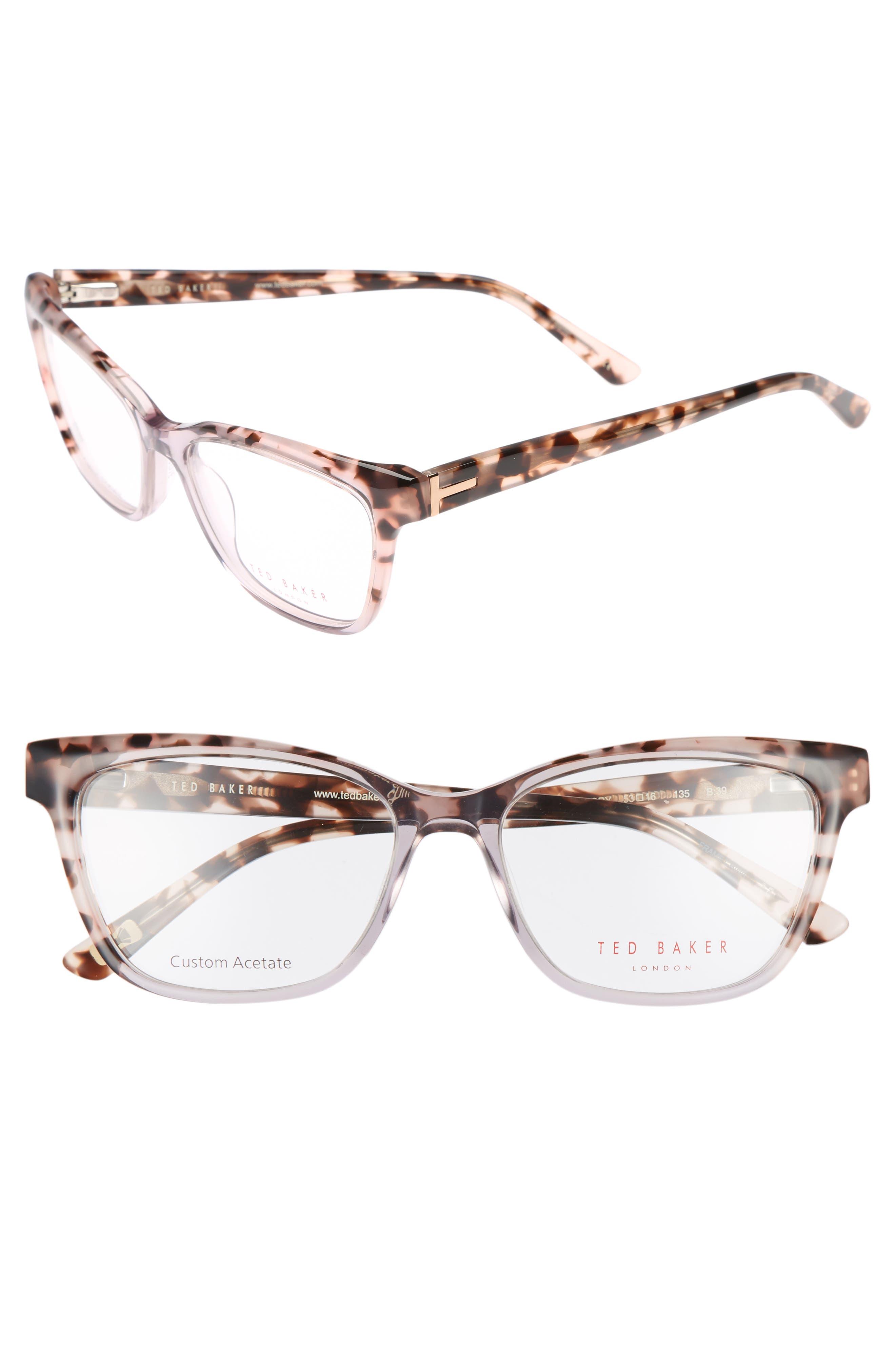 53mm Optical Cat Eye Glasses,                         Main,                         color, Grey