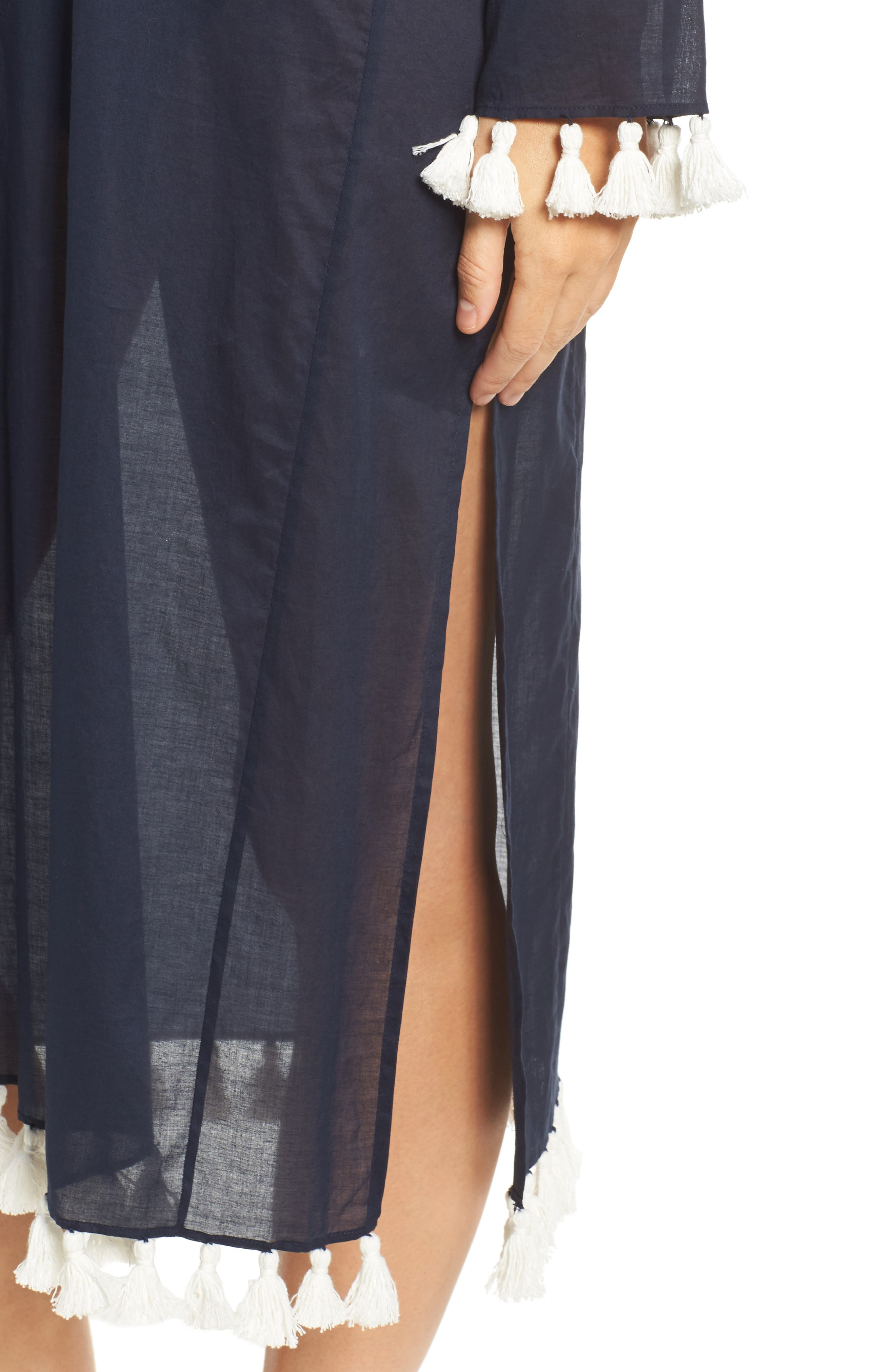 Sandy Cover-Up Tunic,                             Alternate thumbnail 4, color,                             Tory Navy
