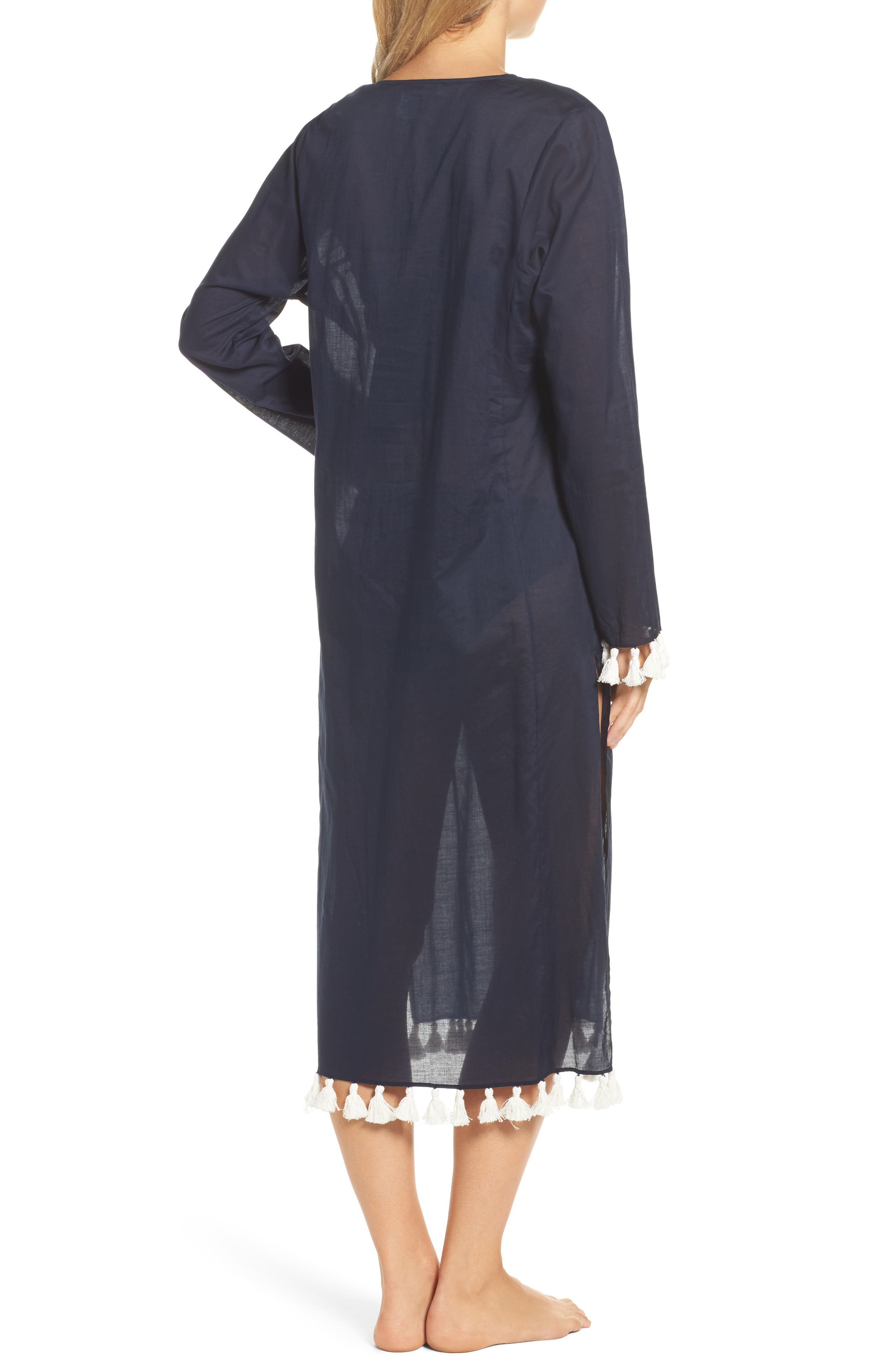Sandy Cover-Up Tunic,                             Alternate thumbnail 2, color,                             Tory Navy