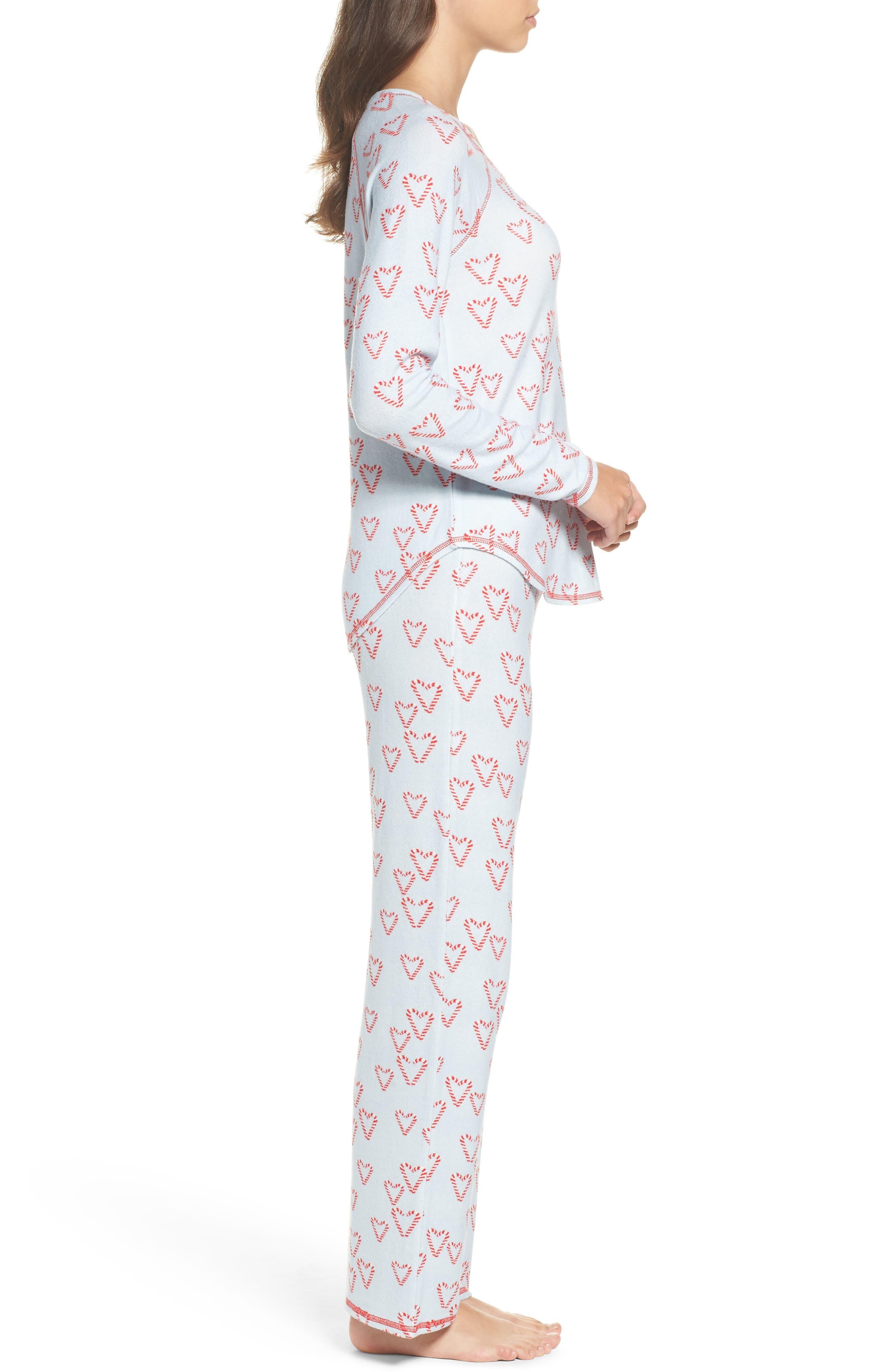 Alternate Image 3  - Make + Model Knit Girlfriend Pajamas & Eye Mask