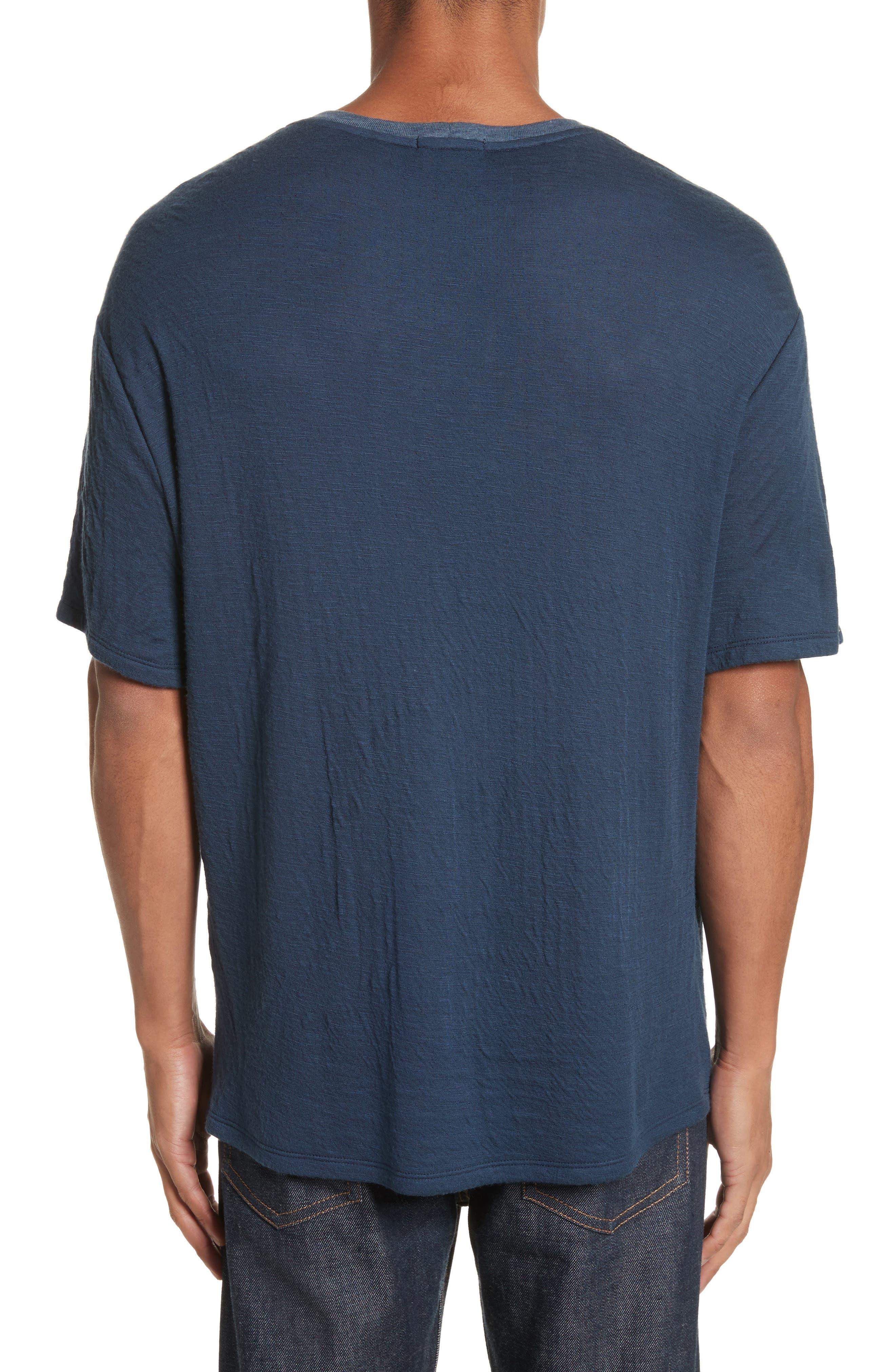 Double Face T-Shirt,                             Alternate thumbnail 2, color,                             Navy