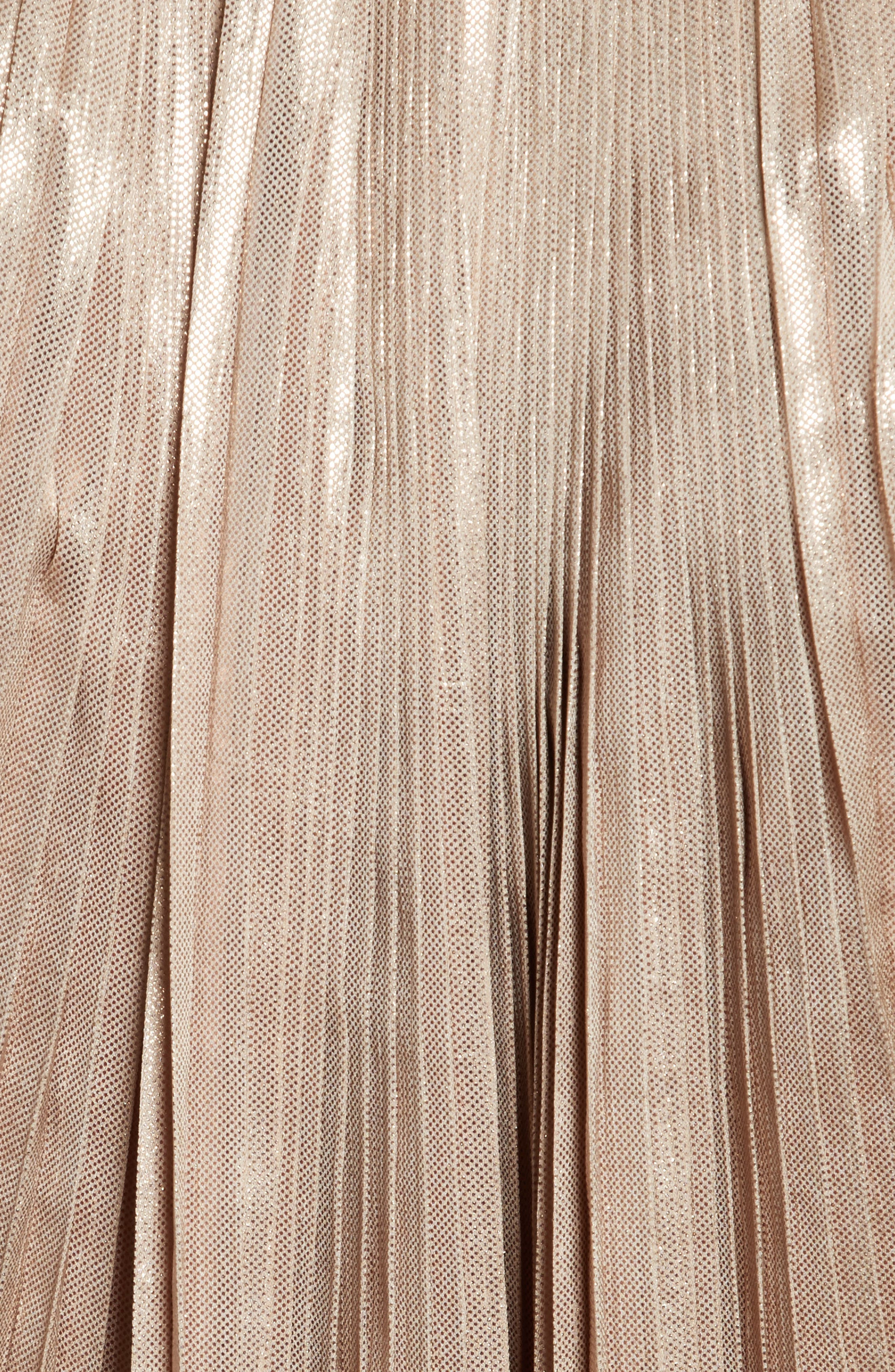 Alternate Image 5  - Opening Ceremony Foil Pleated Top