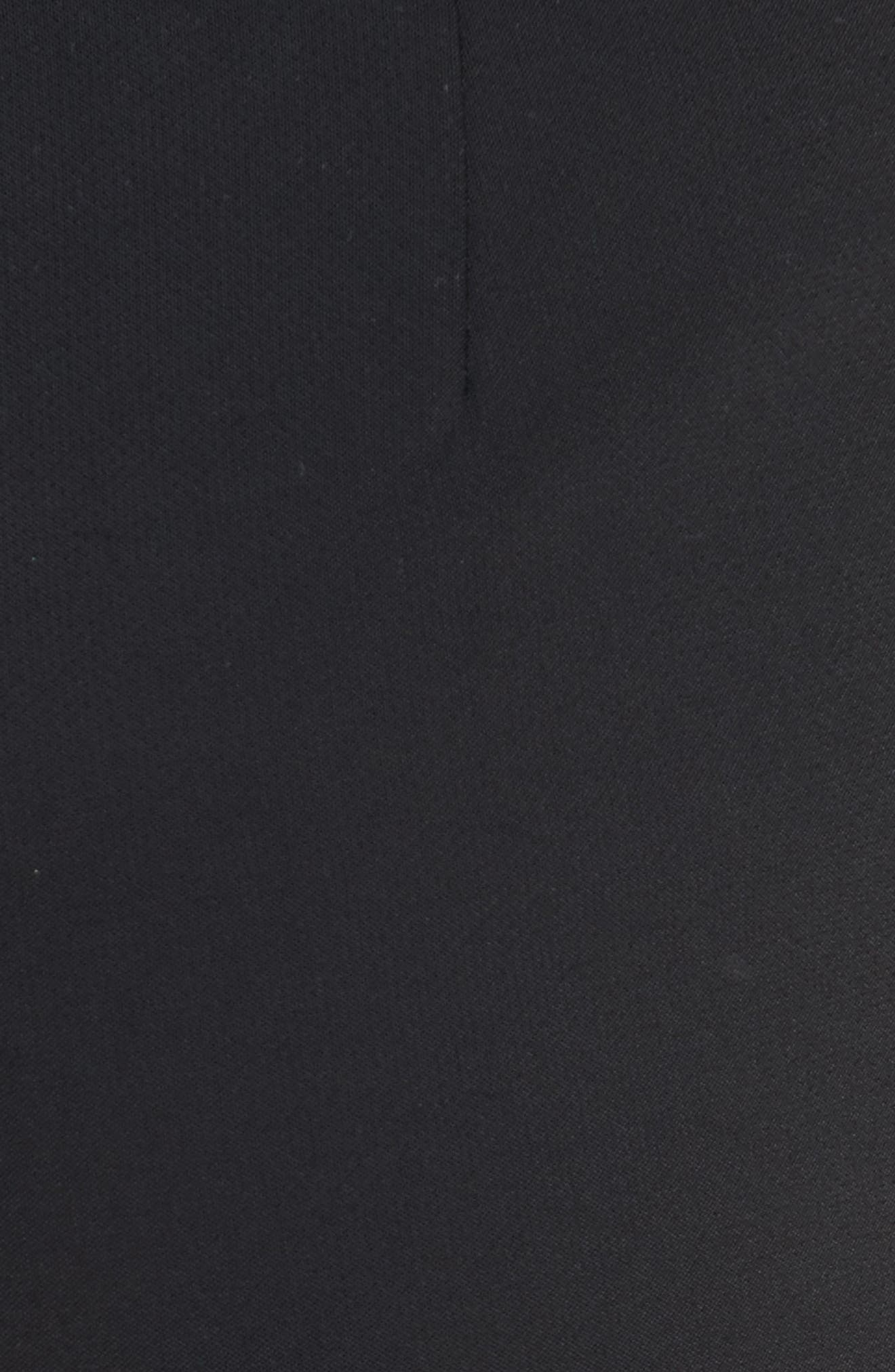 William Ruffle Hem Pants,                             Alternate thumbnail 7, color,                             Black