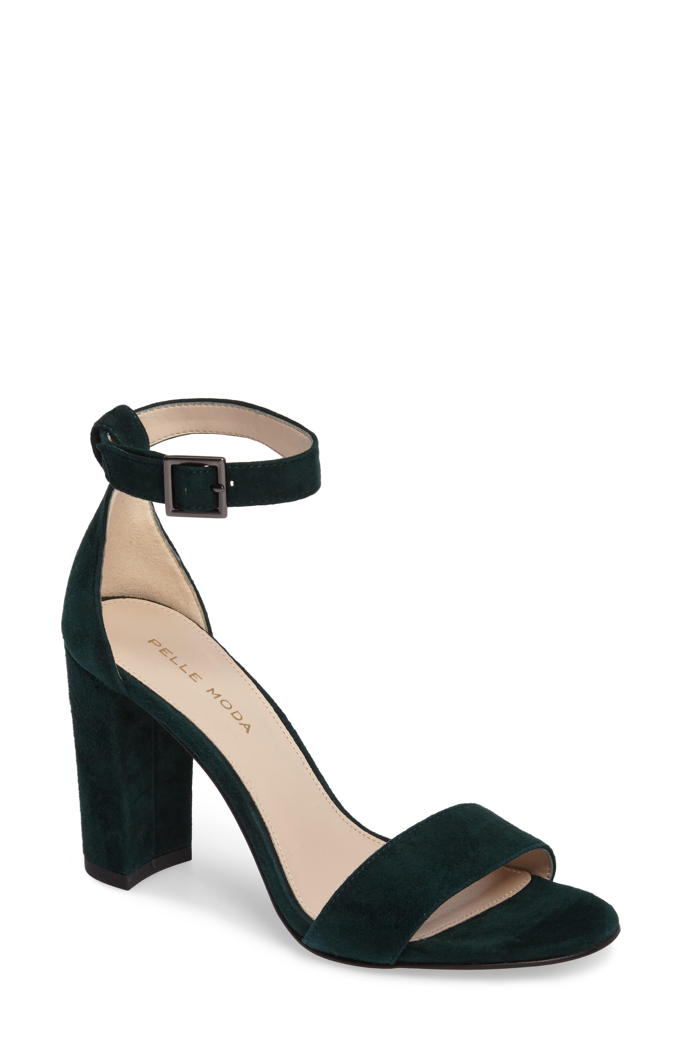 Bonnie Ankle Strap Sandal,                             Main thumbnail 1, color,                             Forest Leather