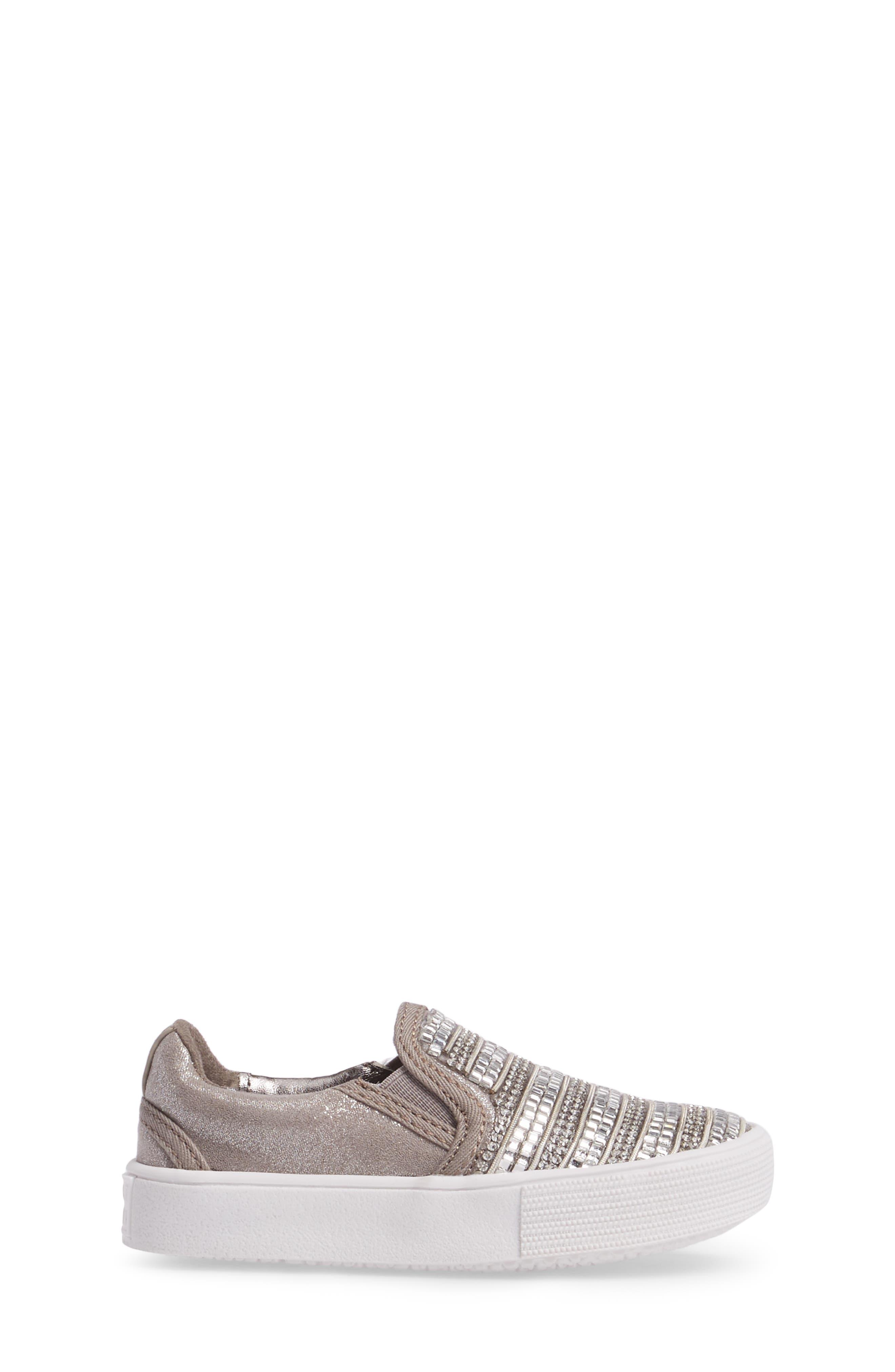 Alternate Image 3  - Stuart Weitzman Vance Glitz Embellished Slip-On Sneaker (Walker & Toddler)