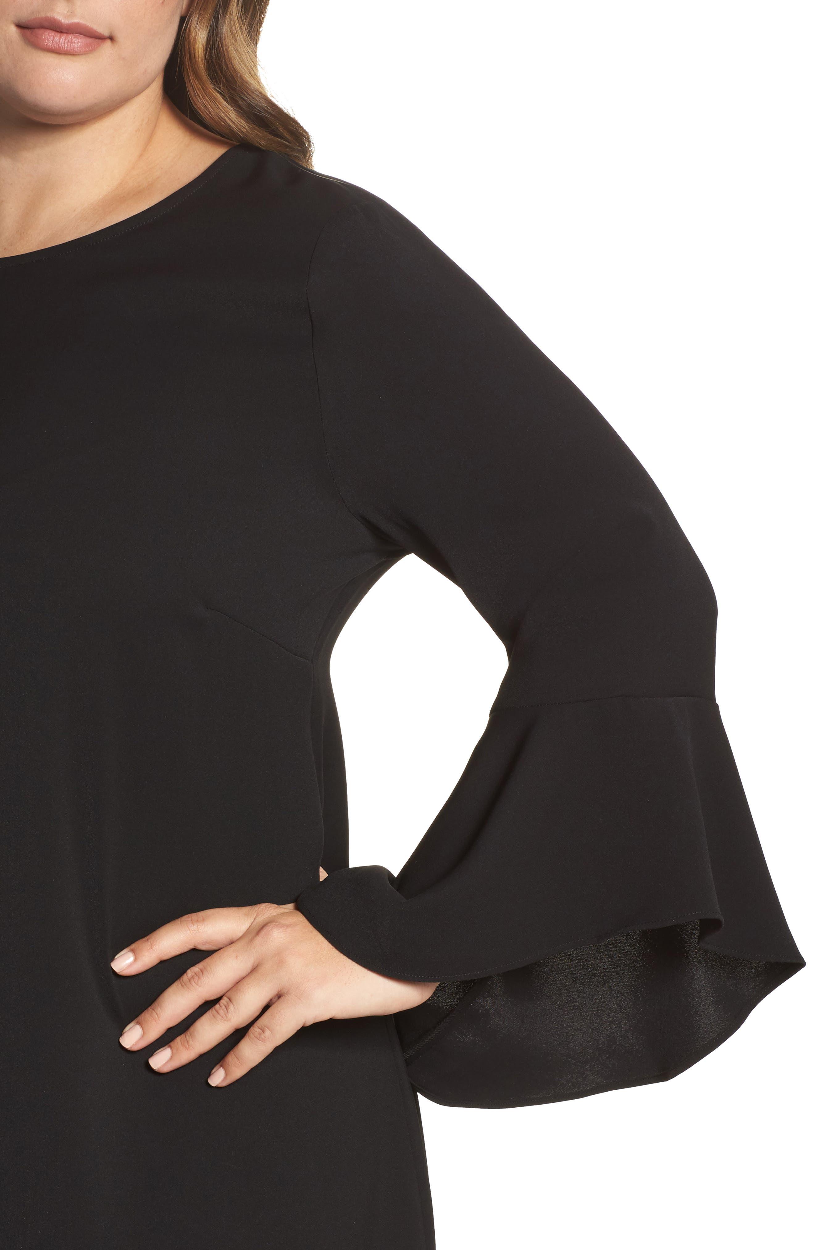 Alternate Image 4  - Glamorous Bell Sleeve Shift Dress (Plus Size)