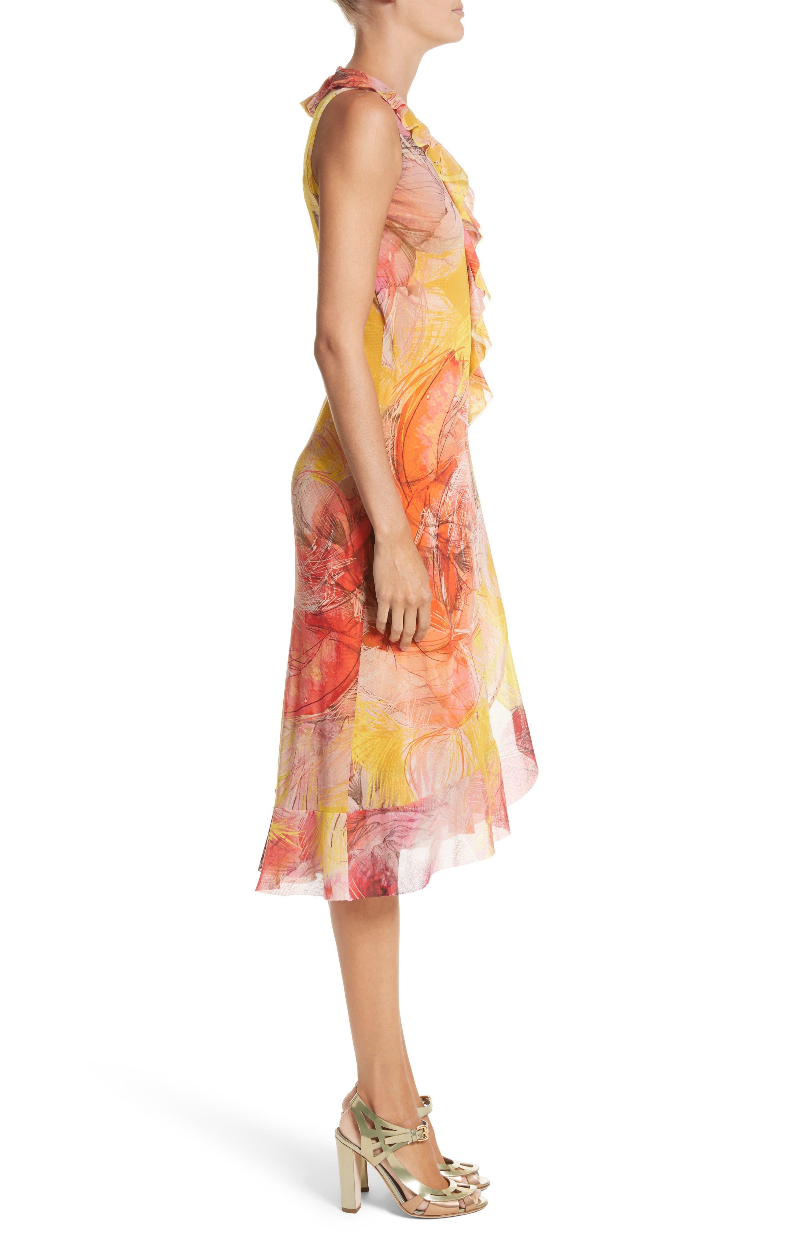 Alternate Image 3  - Fuzzi Print Tulle Ruffle Wrap Dress
