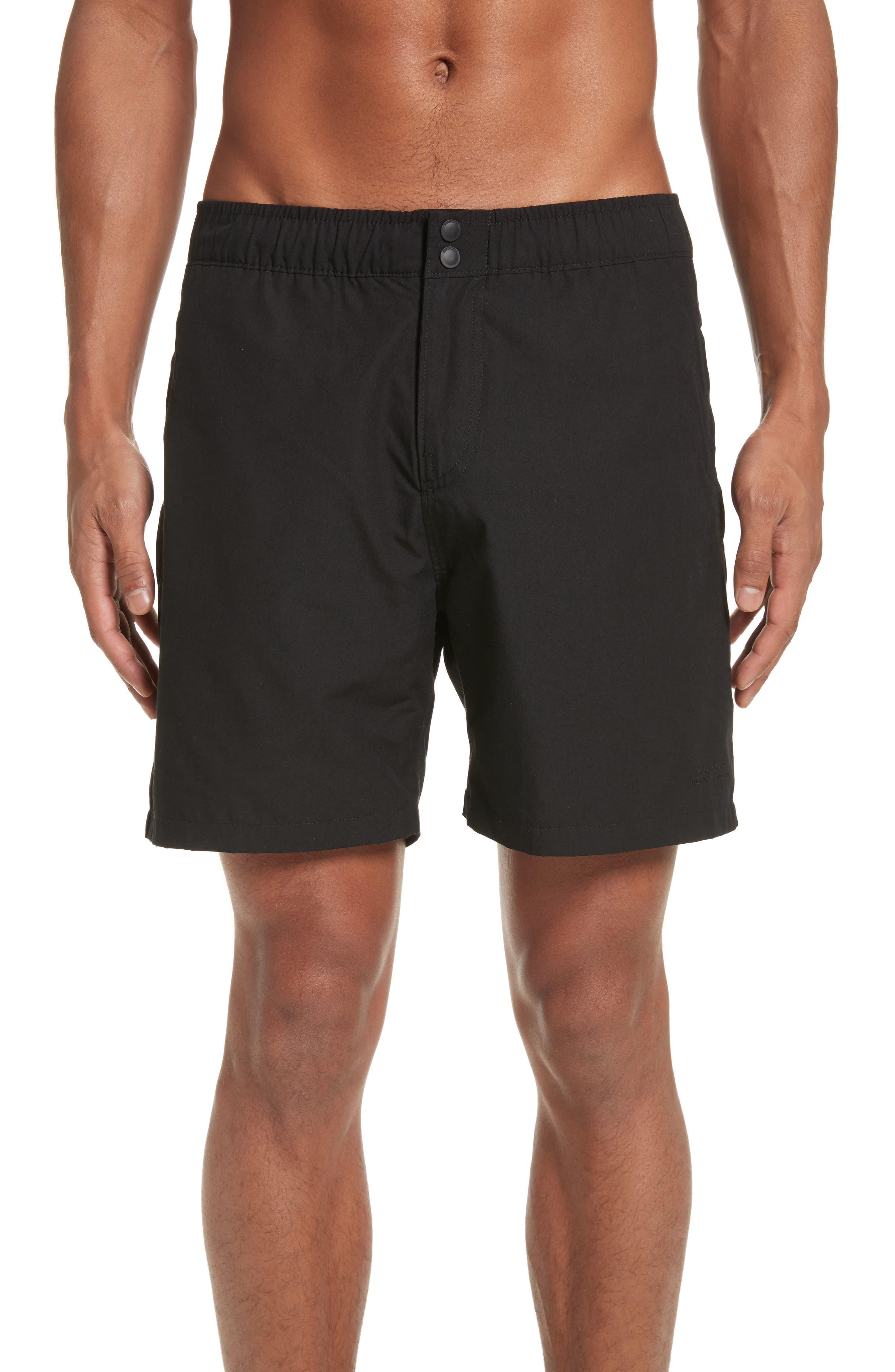 Trent Swim Trunks,                         Main,                         color, Black