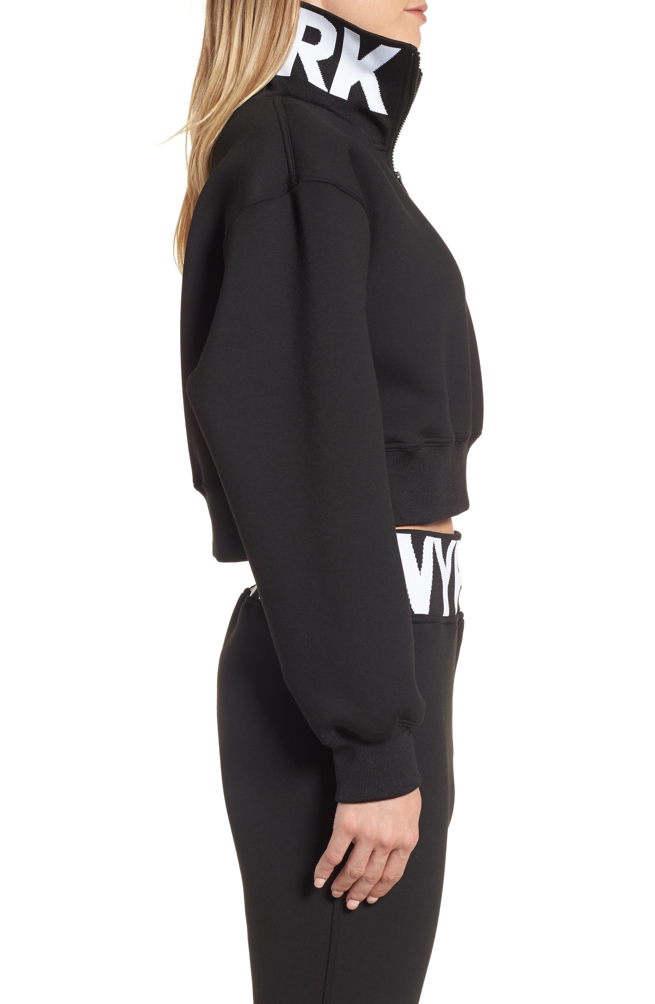 Alternate Image 2  - IVY PARK® Logo Quarter Zip Funnel Sweatshirt