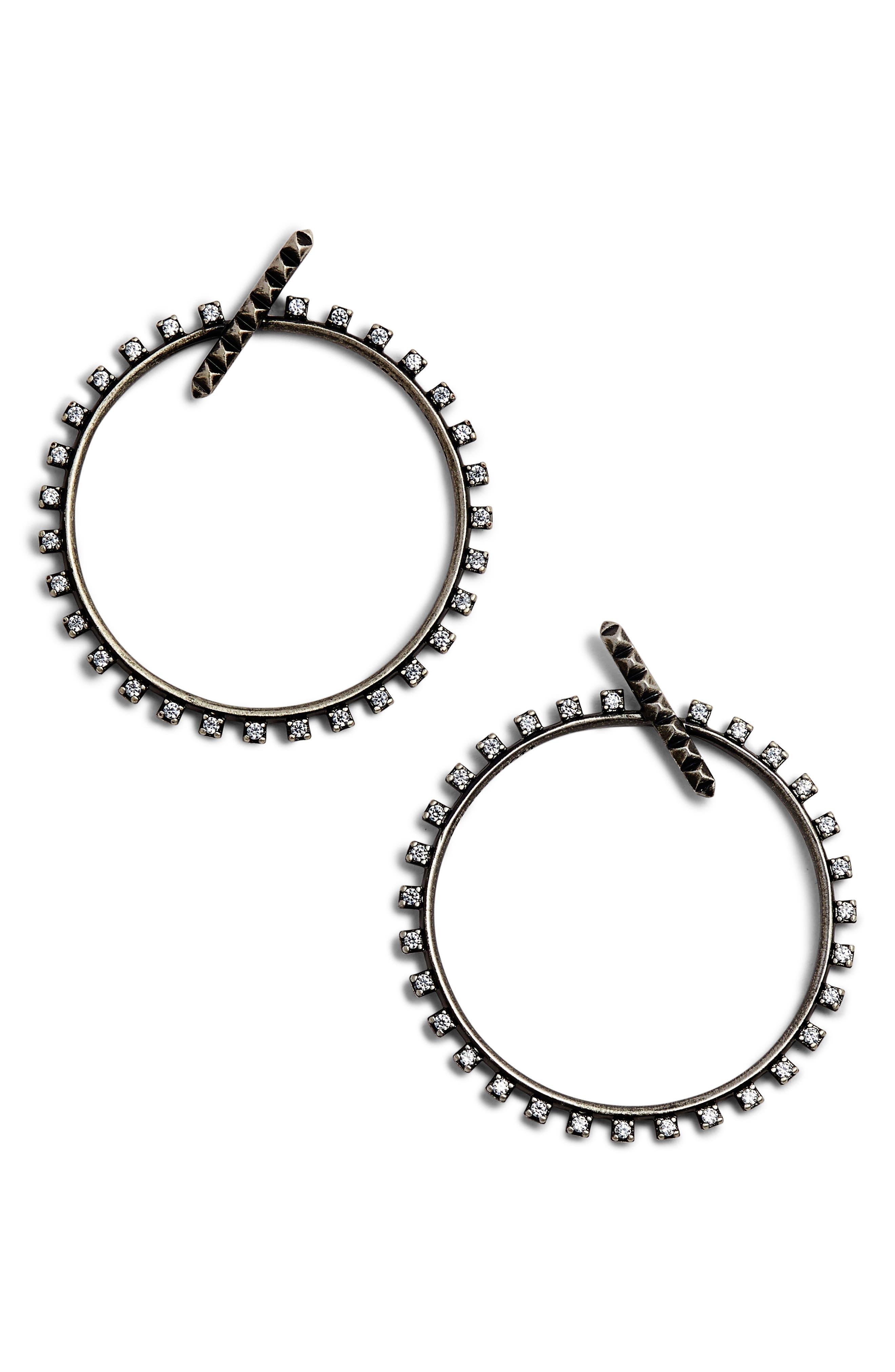 Alternate Image 1 Selected - Kendra Scott Charlie Grace Hoop Earrings