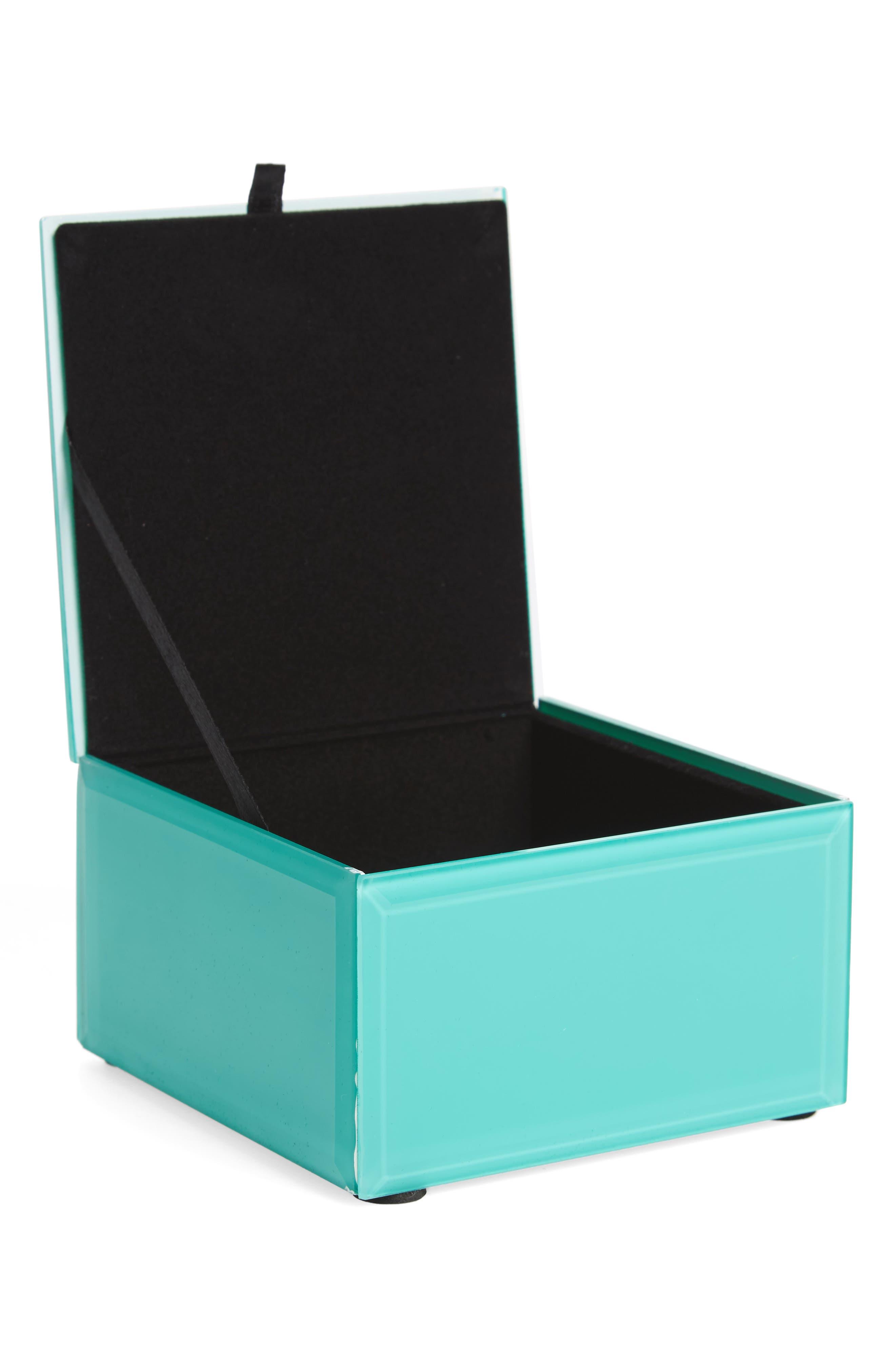 Alternate Image 2  - American Atelier Peacock Agate Jewelry Box