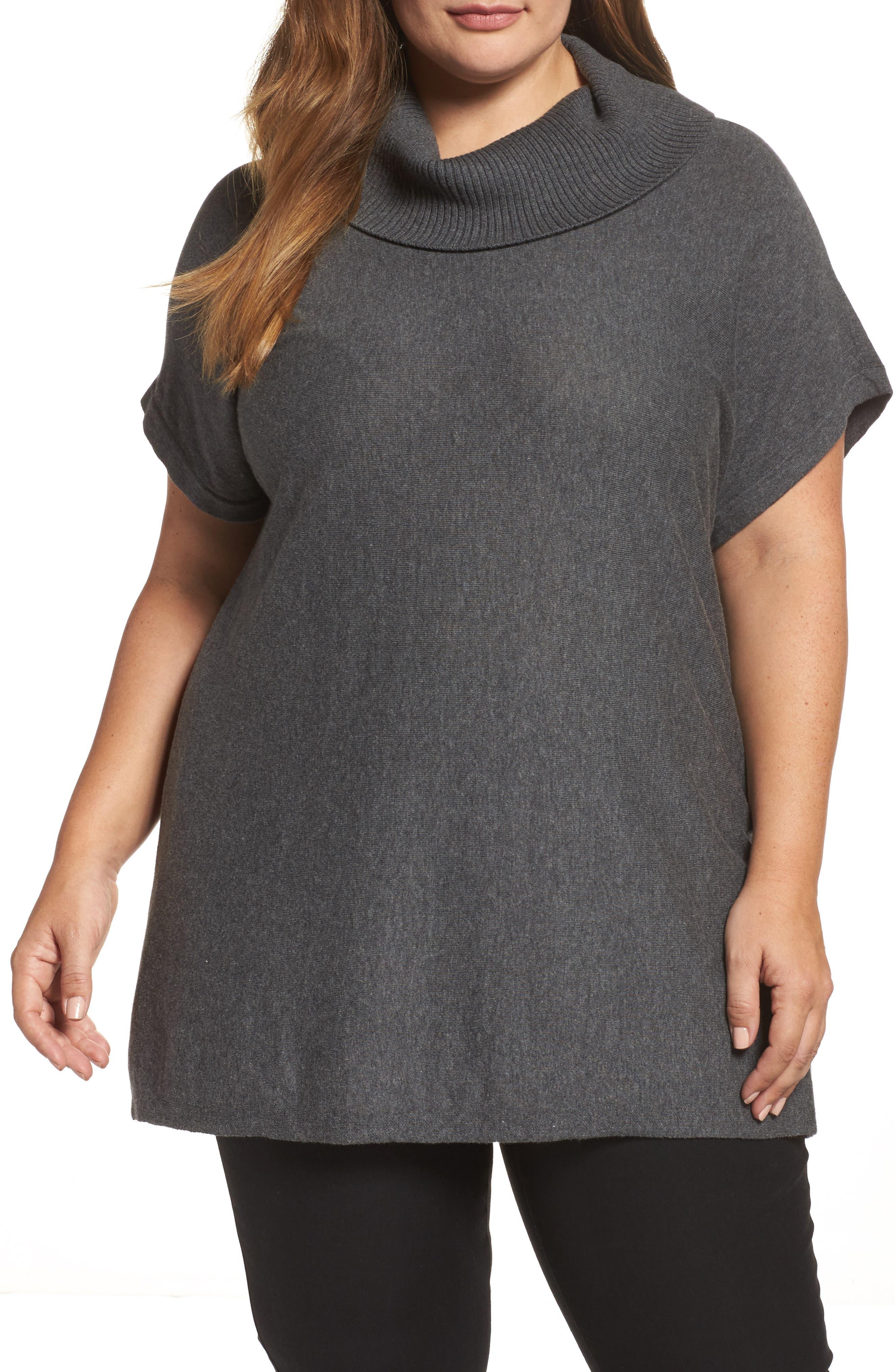 Turtleneck Sweater,                         Main,                         color, Medium Heather Grey