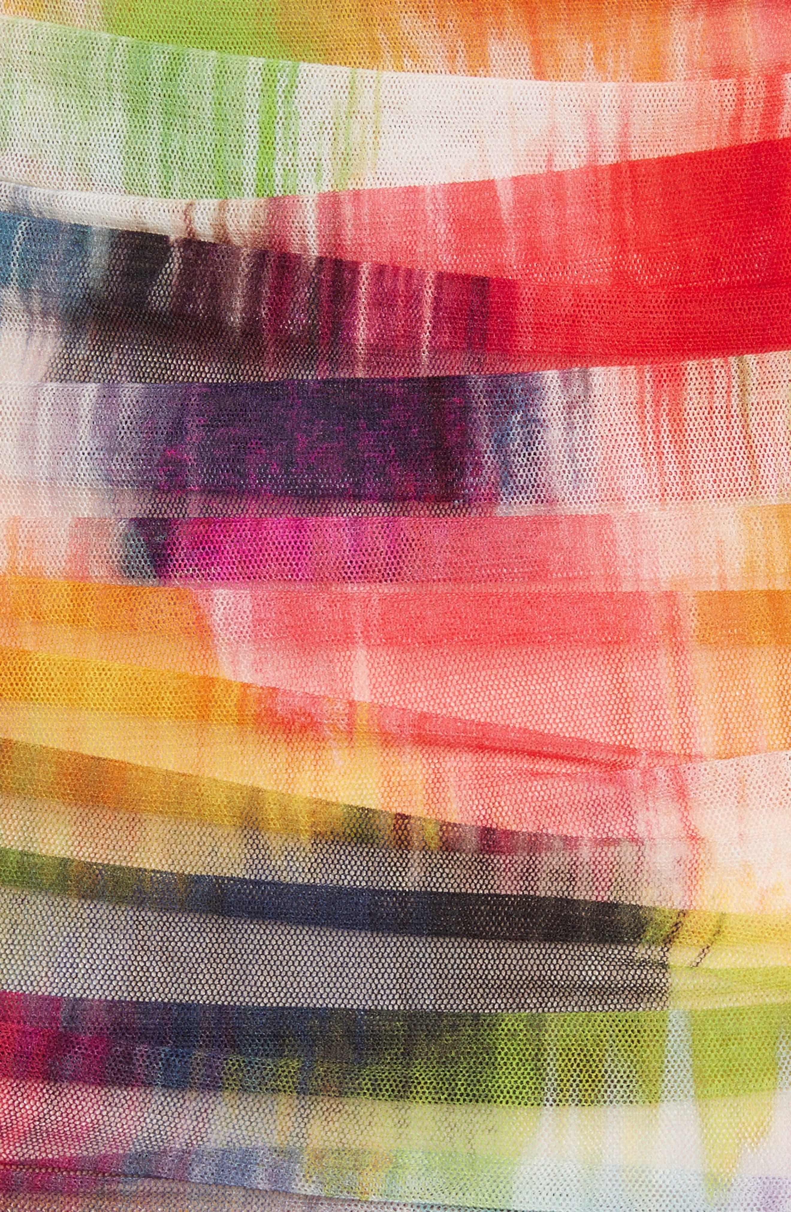 Alternate Image 5  - Fuzzi Brushstroke Print Ruched Tulle Top
