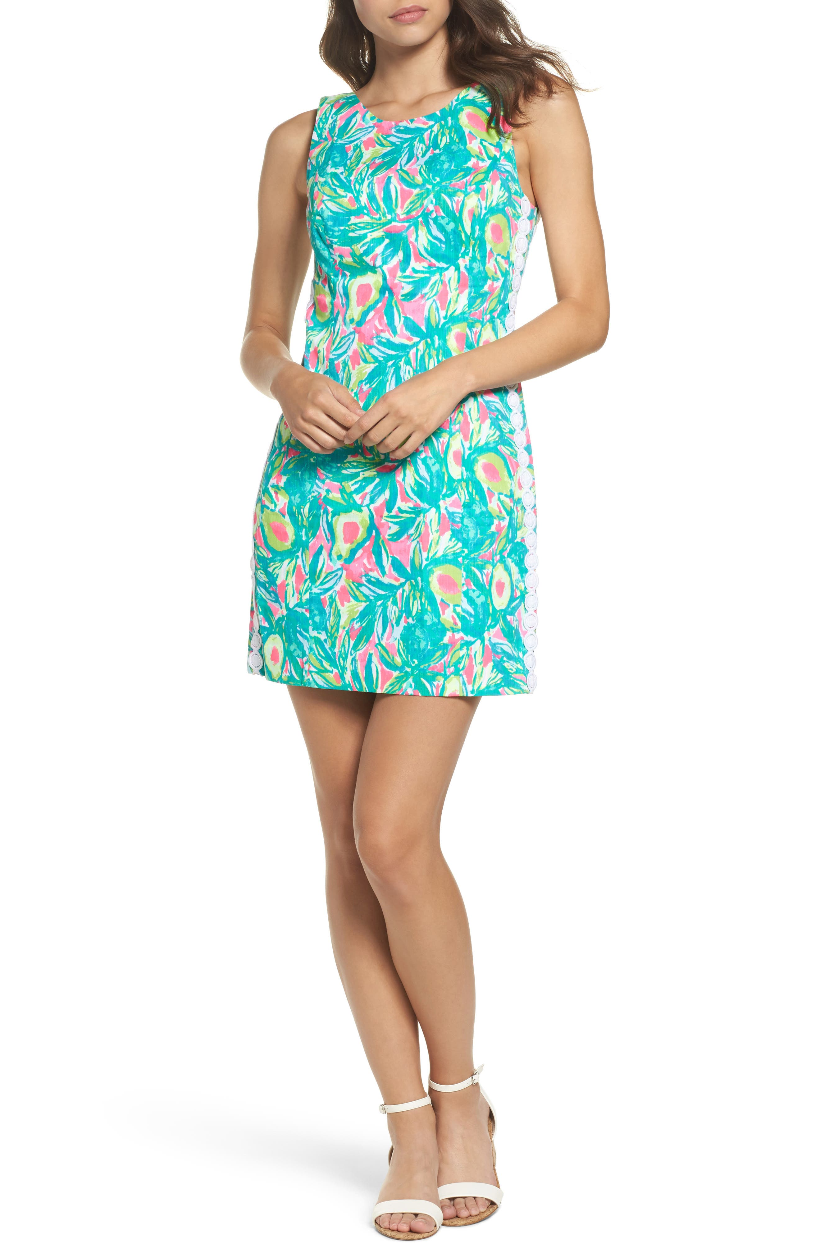 Mila Sheath Dress,                         Main,                         color, Pink Sunset Guac And Roll