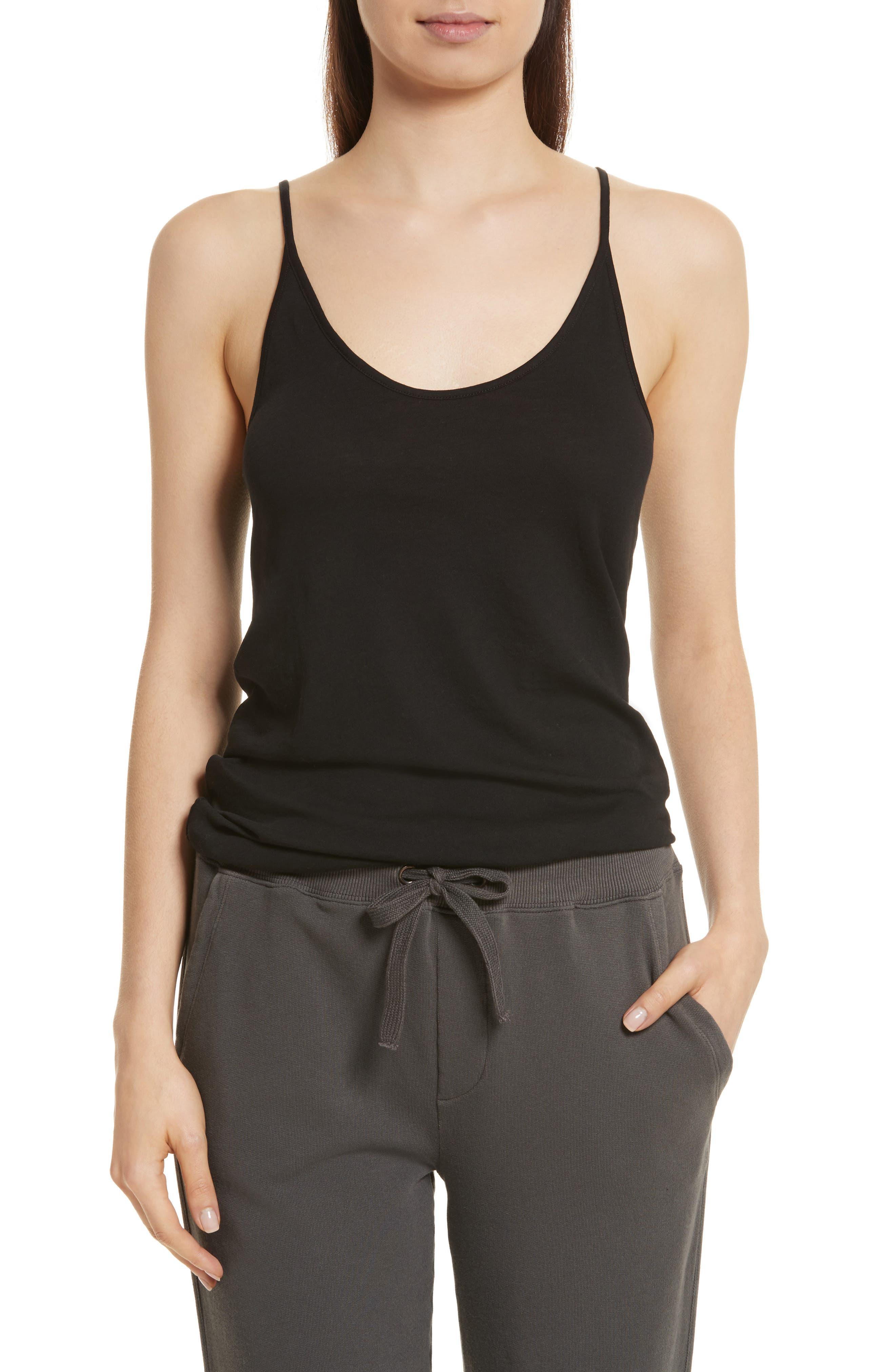 Pima Cotton Camisole,                         Main,                         color, Black