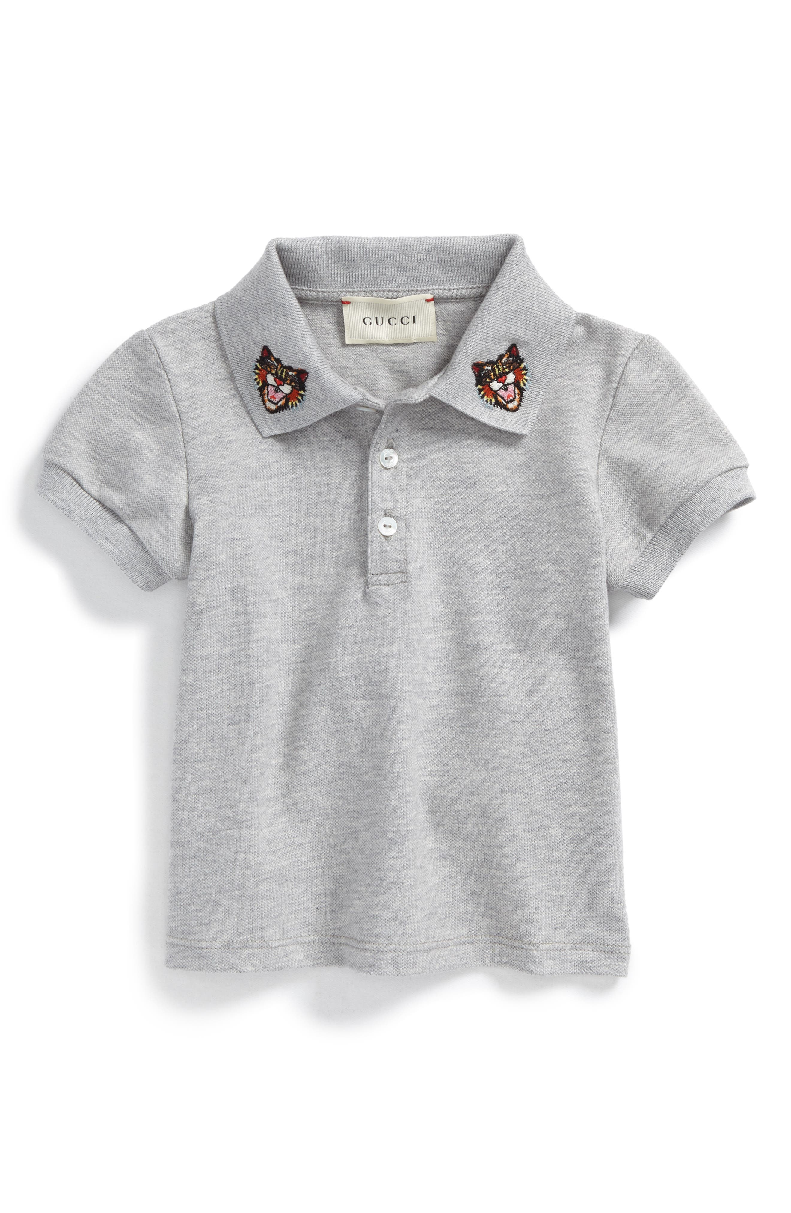 Gucci Embroidered Collar Polo (Baby Boys)