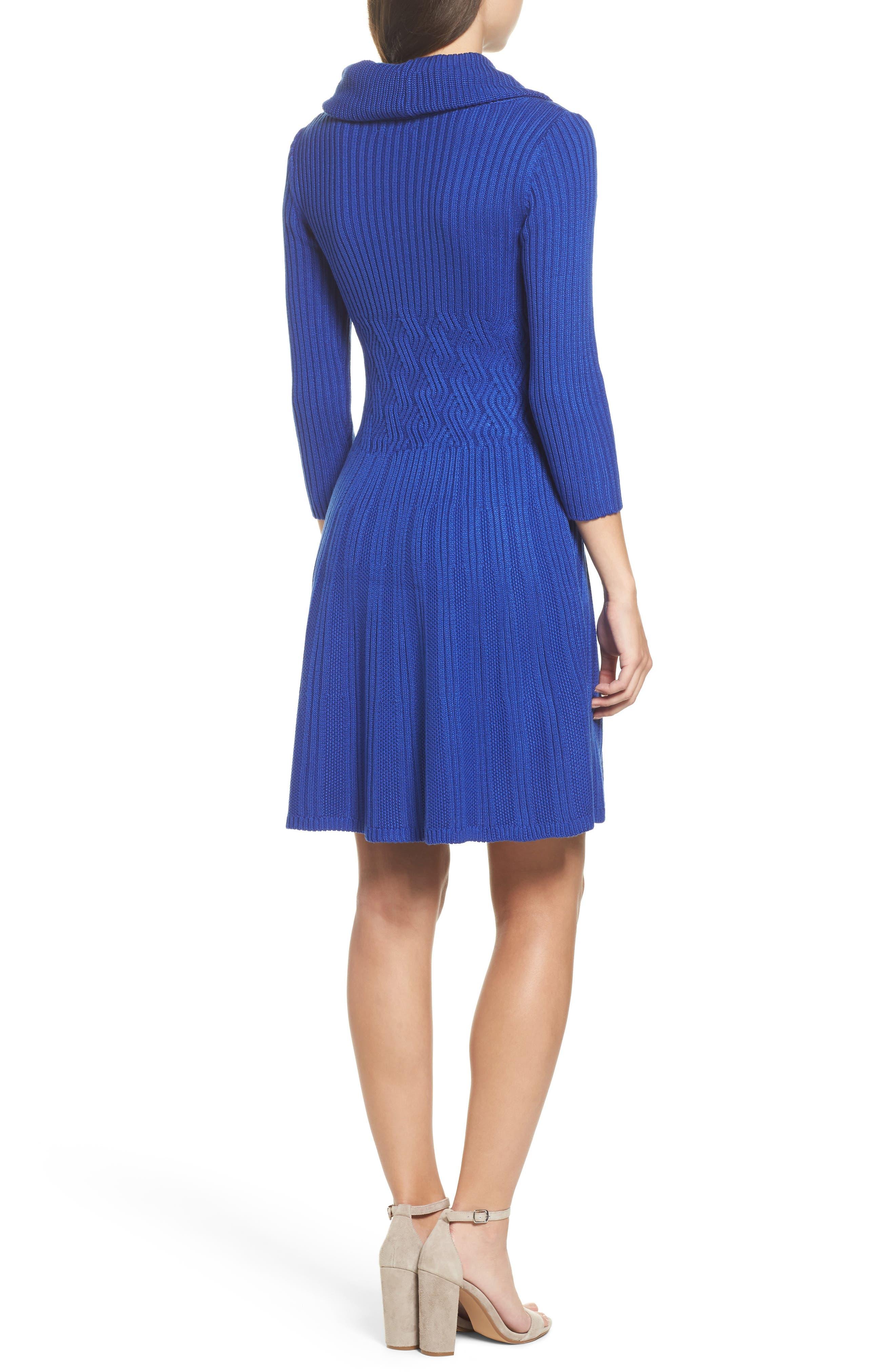 Alternate Image 2  - Eliza J Cowl Neck Sweater Dress