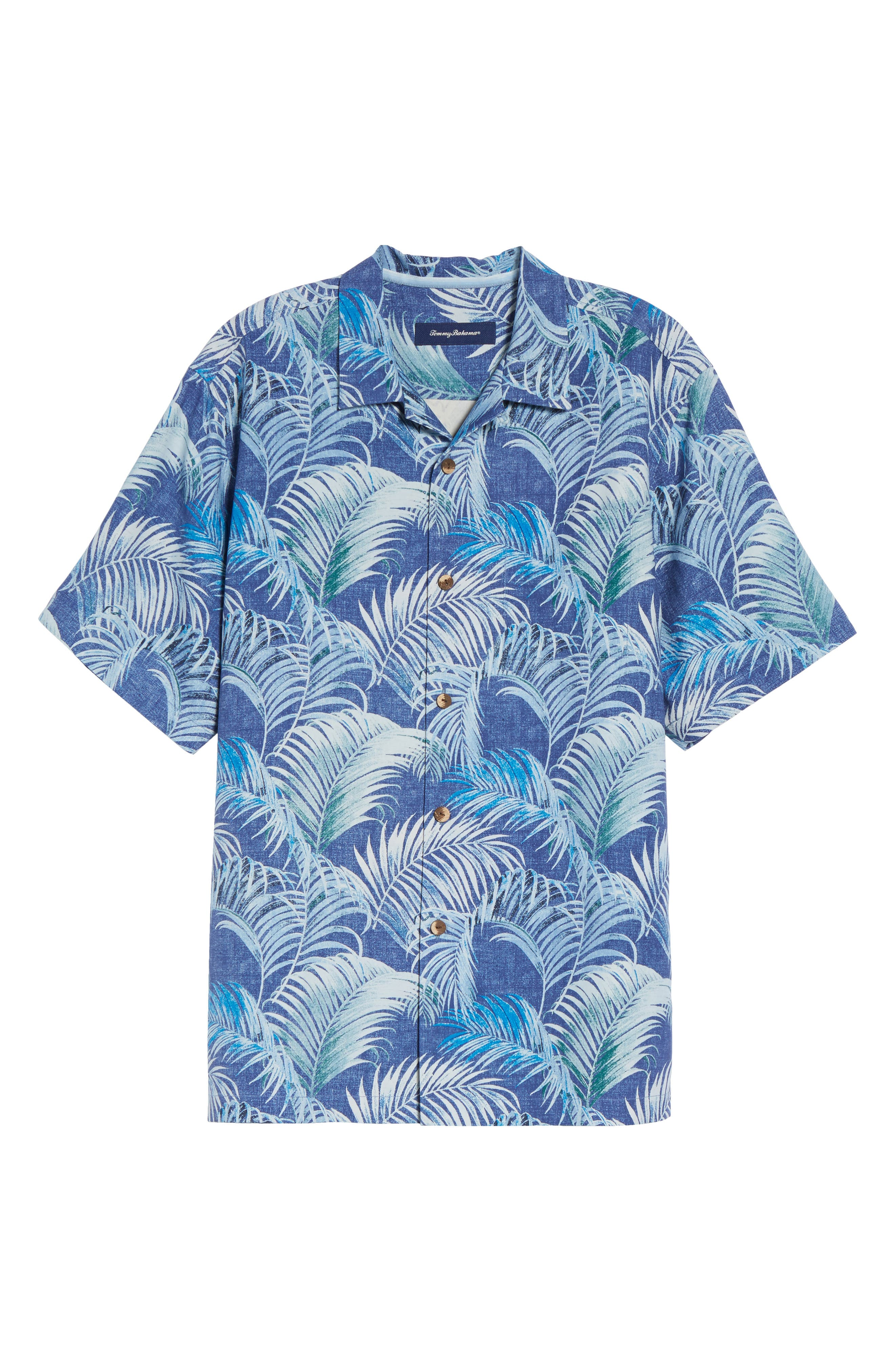 Garden of Hope and Courage Silk Camp Shirt,                             Alternate thumbnail 6, color,                             Eclipse