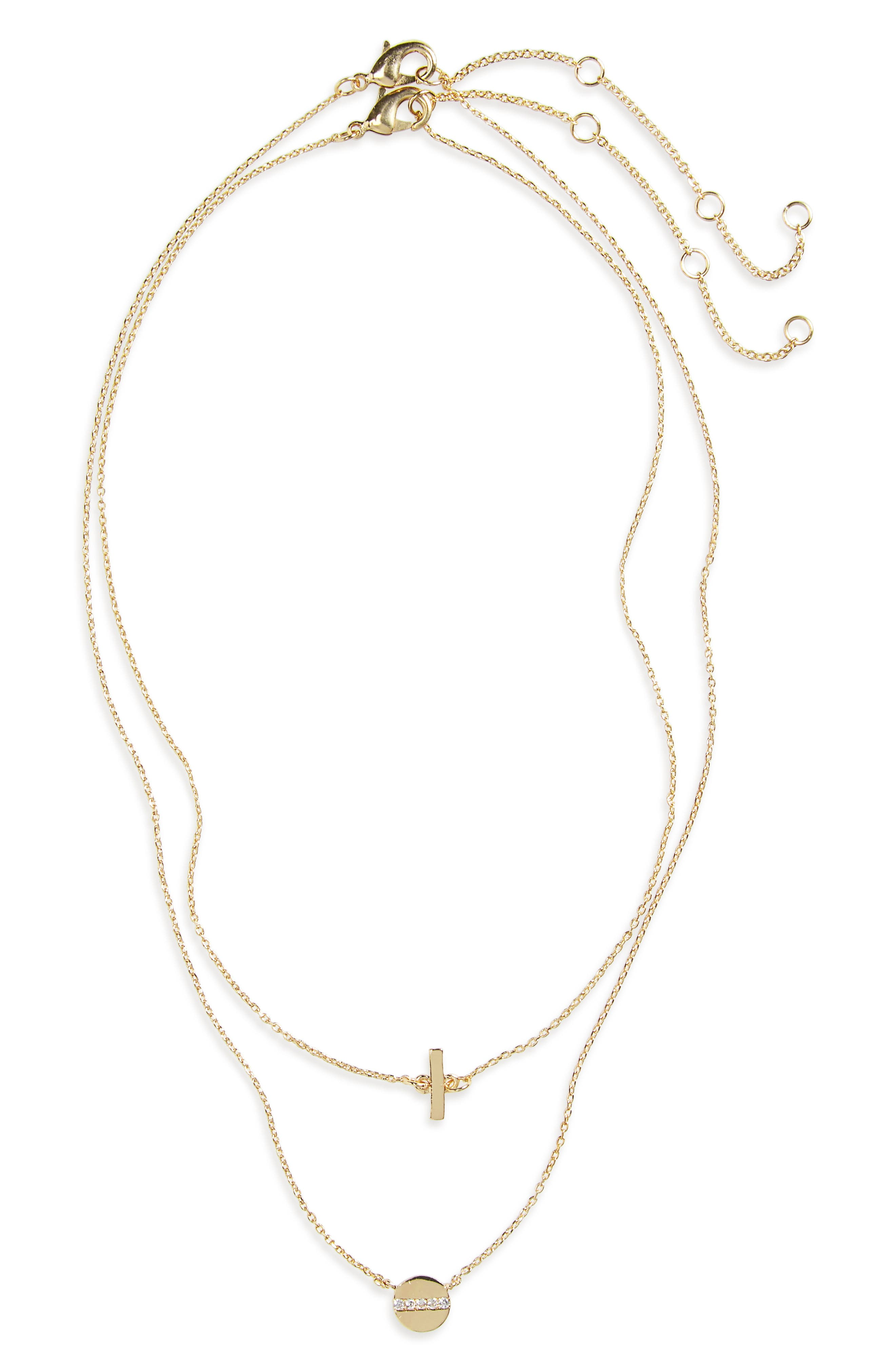 BP. Layered Charm Necklace