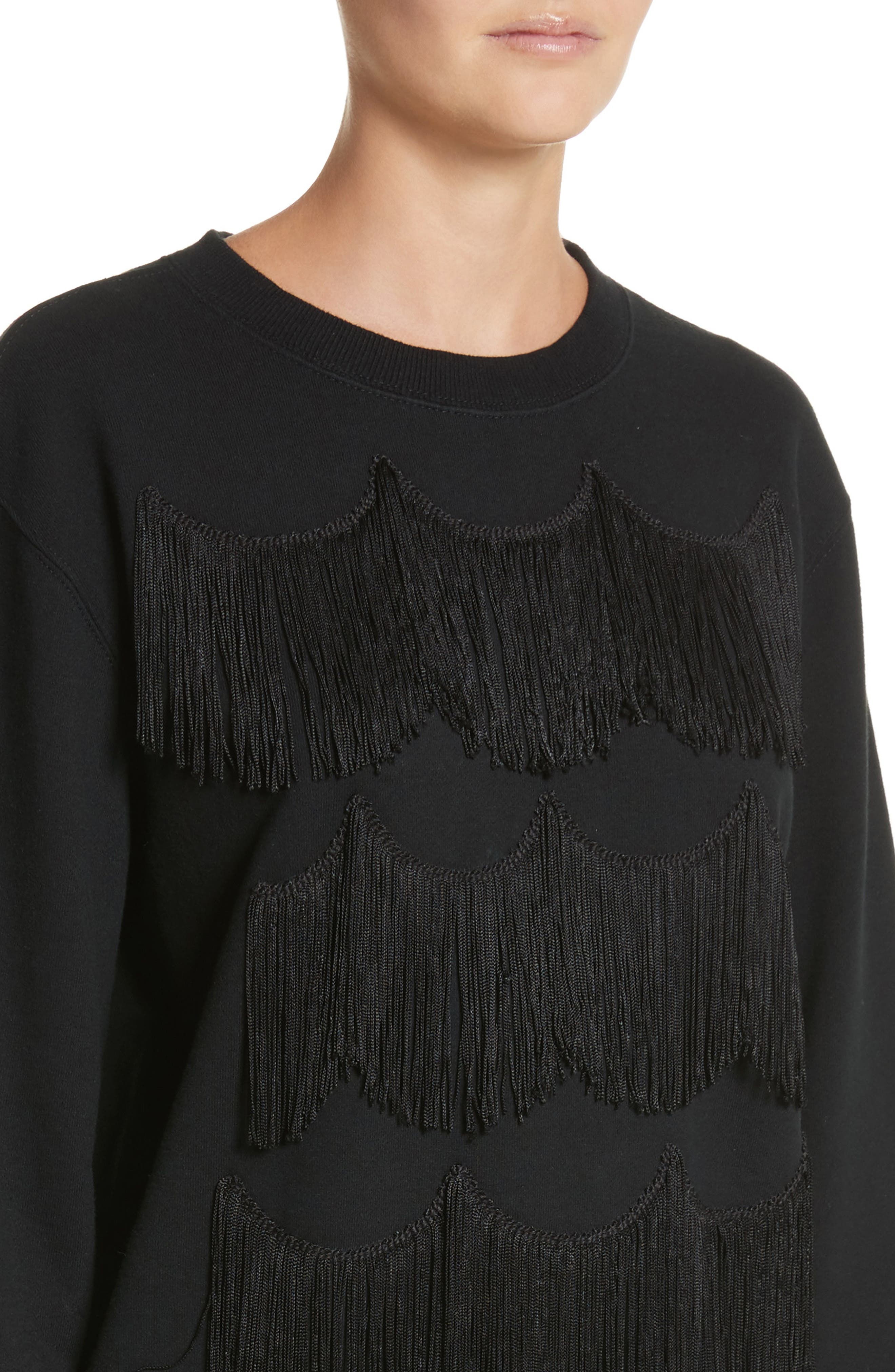 Alternate Image 4  - MARC JACOBS Fringe Cotton Sweatshirt