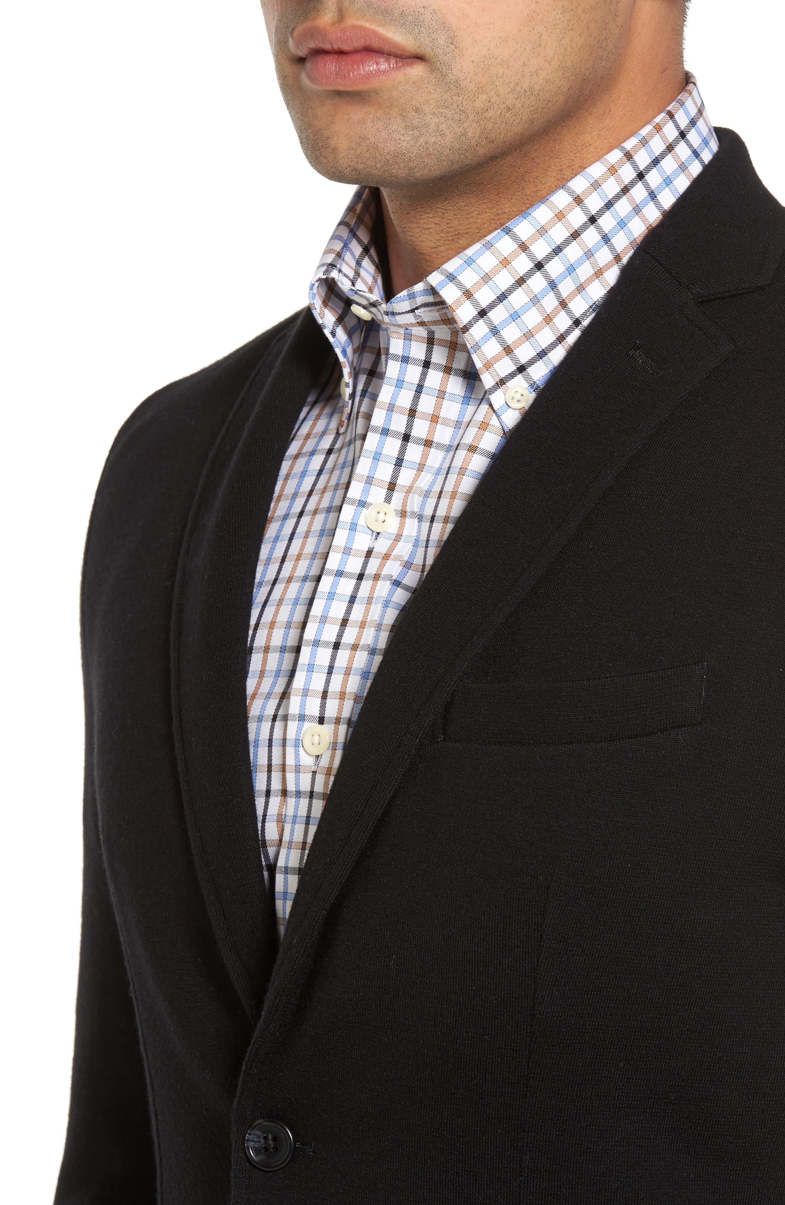 Crown Classic Fit Blazer,                             Alternate thumbnail 4, color,                             Black
