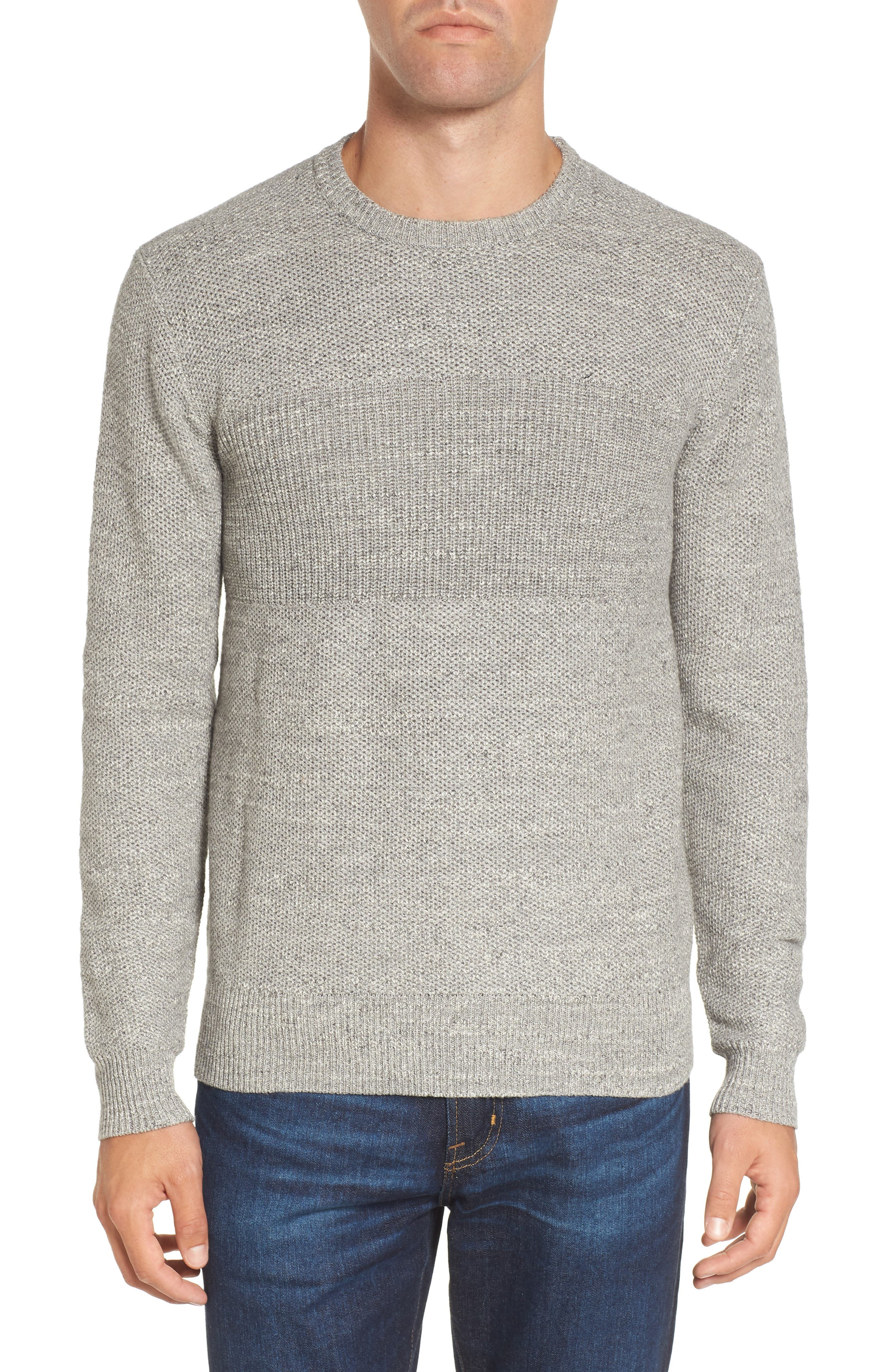 Ardsley Textured Sweater,                             Main thumbnail 1, color,                             Grey Heather
