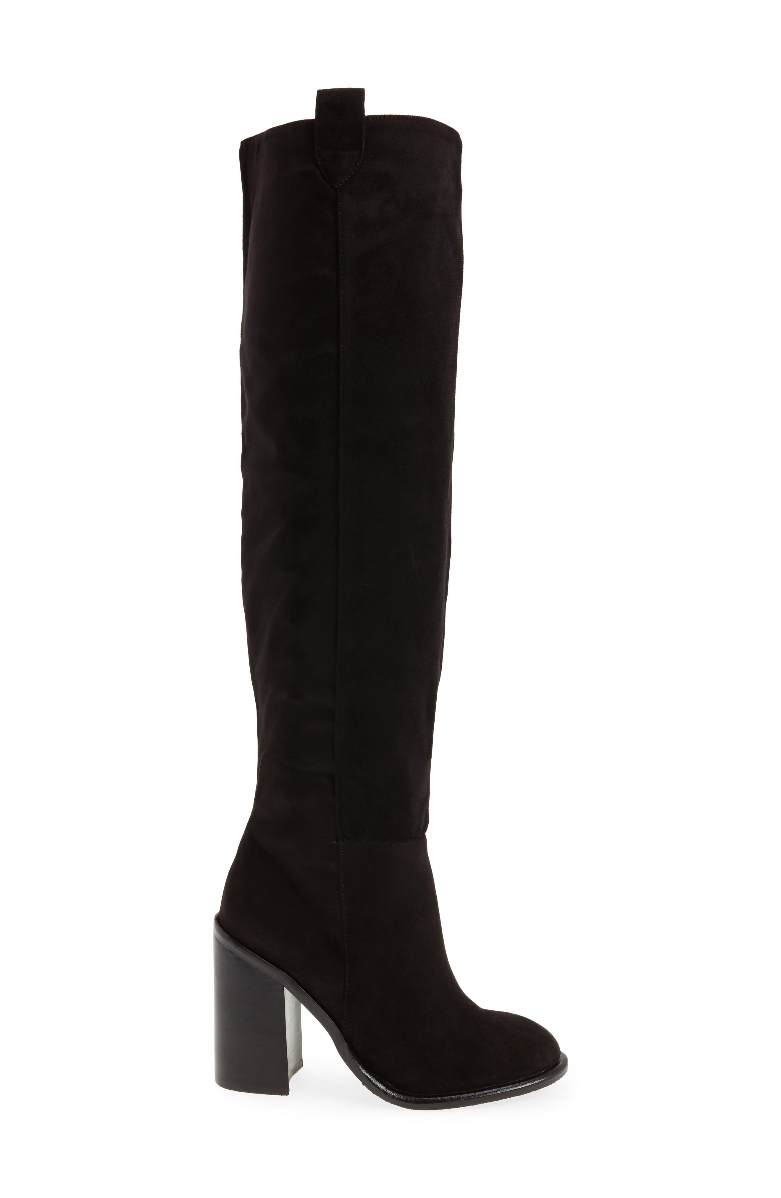Nate Over the Knee Boot,                             Alternate thumbnail 3, color,                             Black