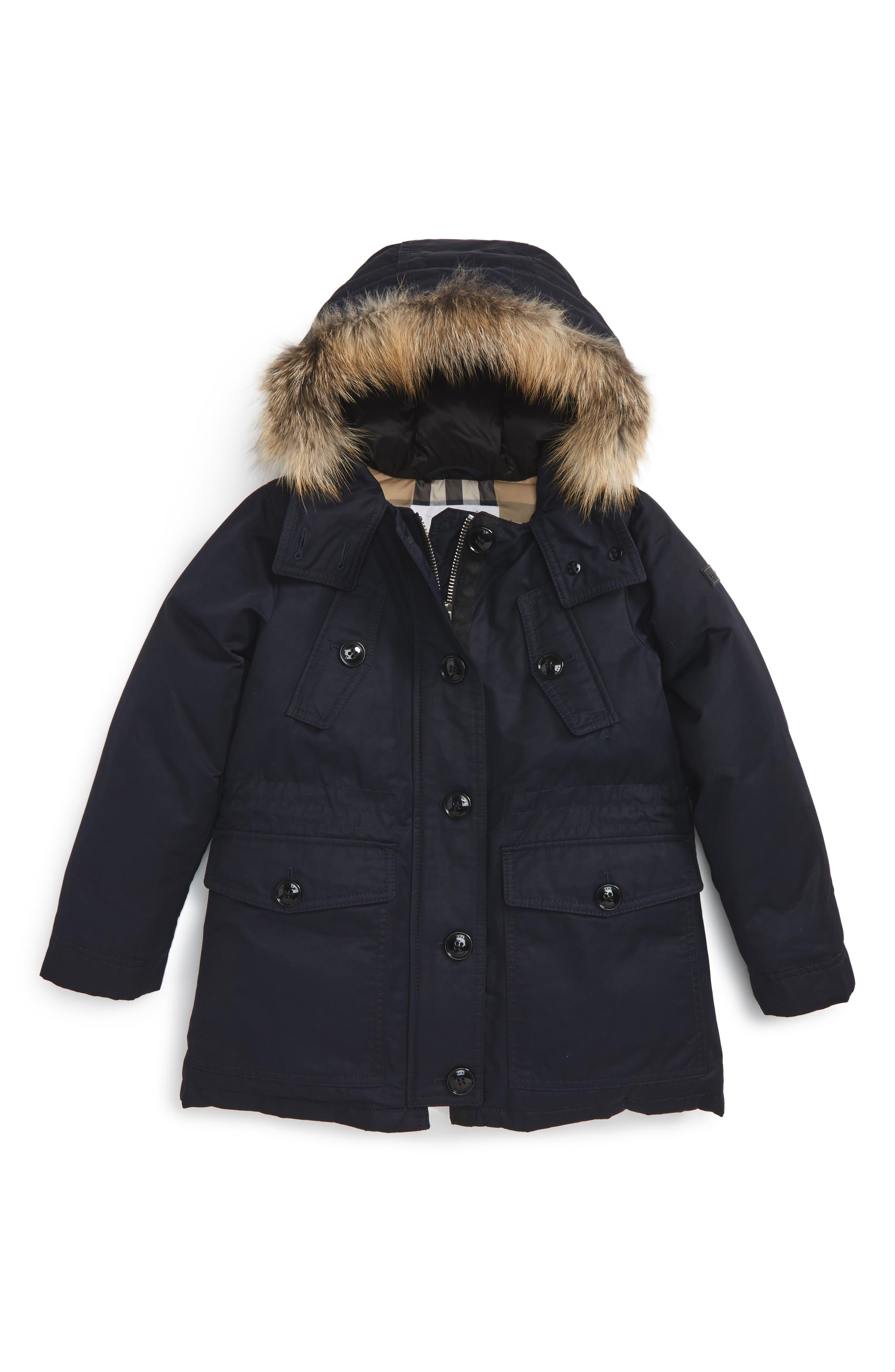Burberry Ellie Genuine Fox Fur Down Parka (Little Girls & Big Girls)