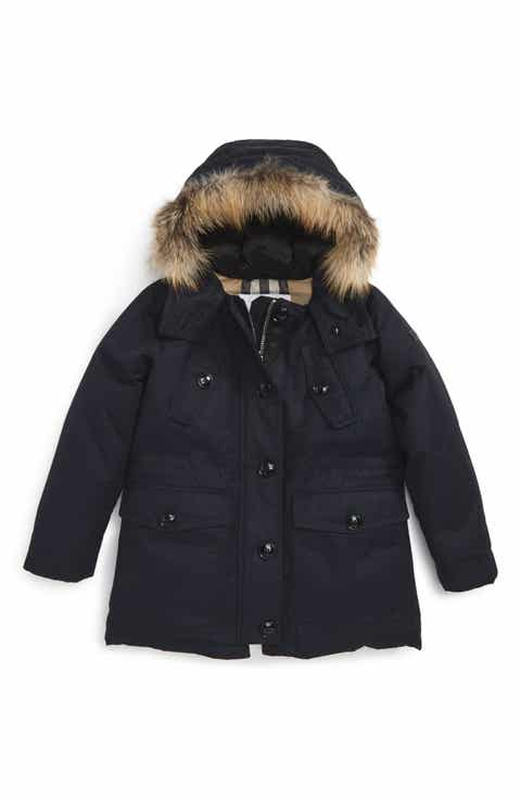 Girls' Fur & Faux Fur Coats, Jackets & Outerwear: Rain, Fleece ...